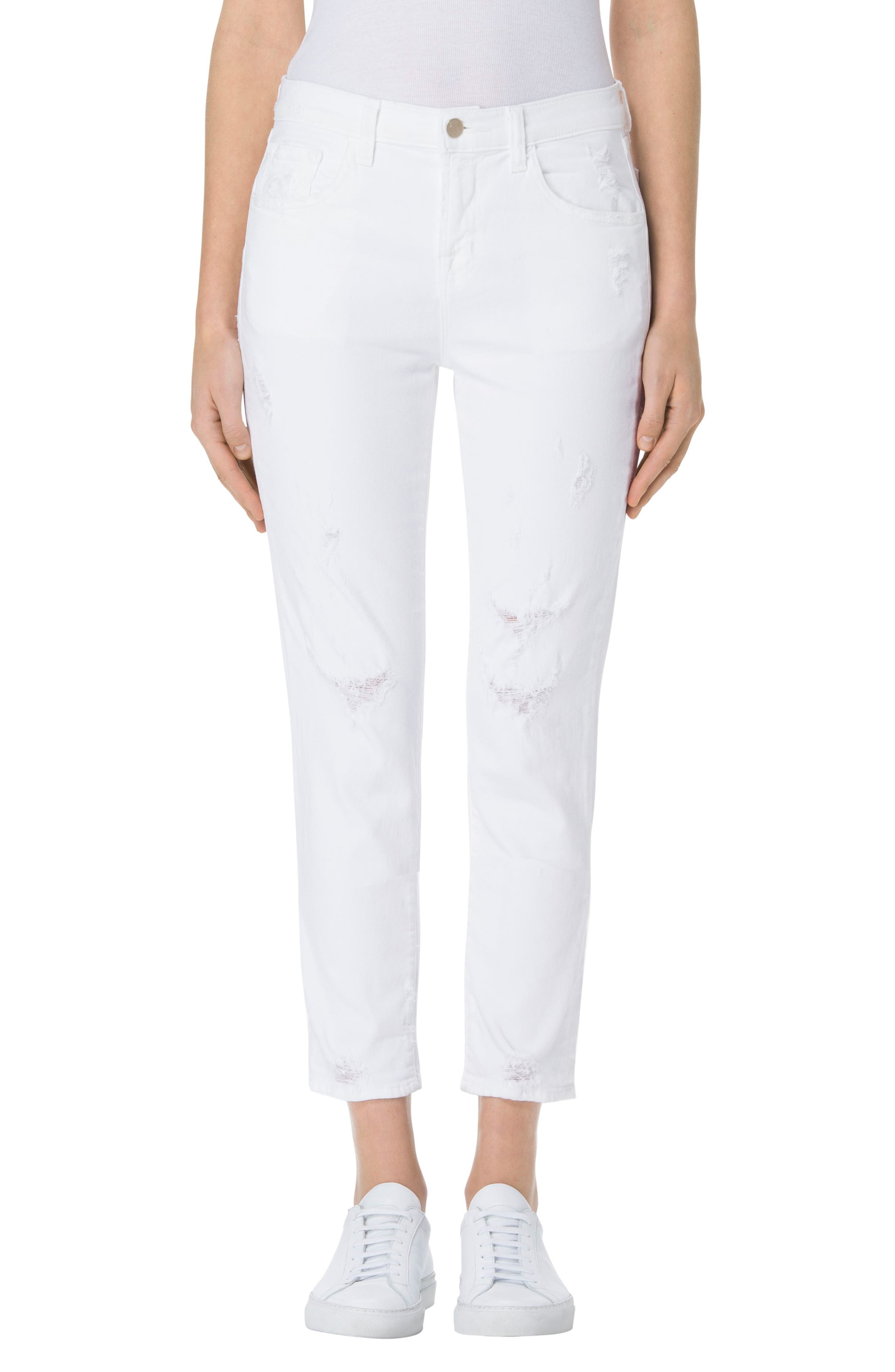 J Brand Sadey Crop Slim Straight Leg Jeans (Disconnect)