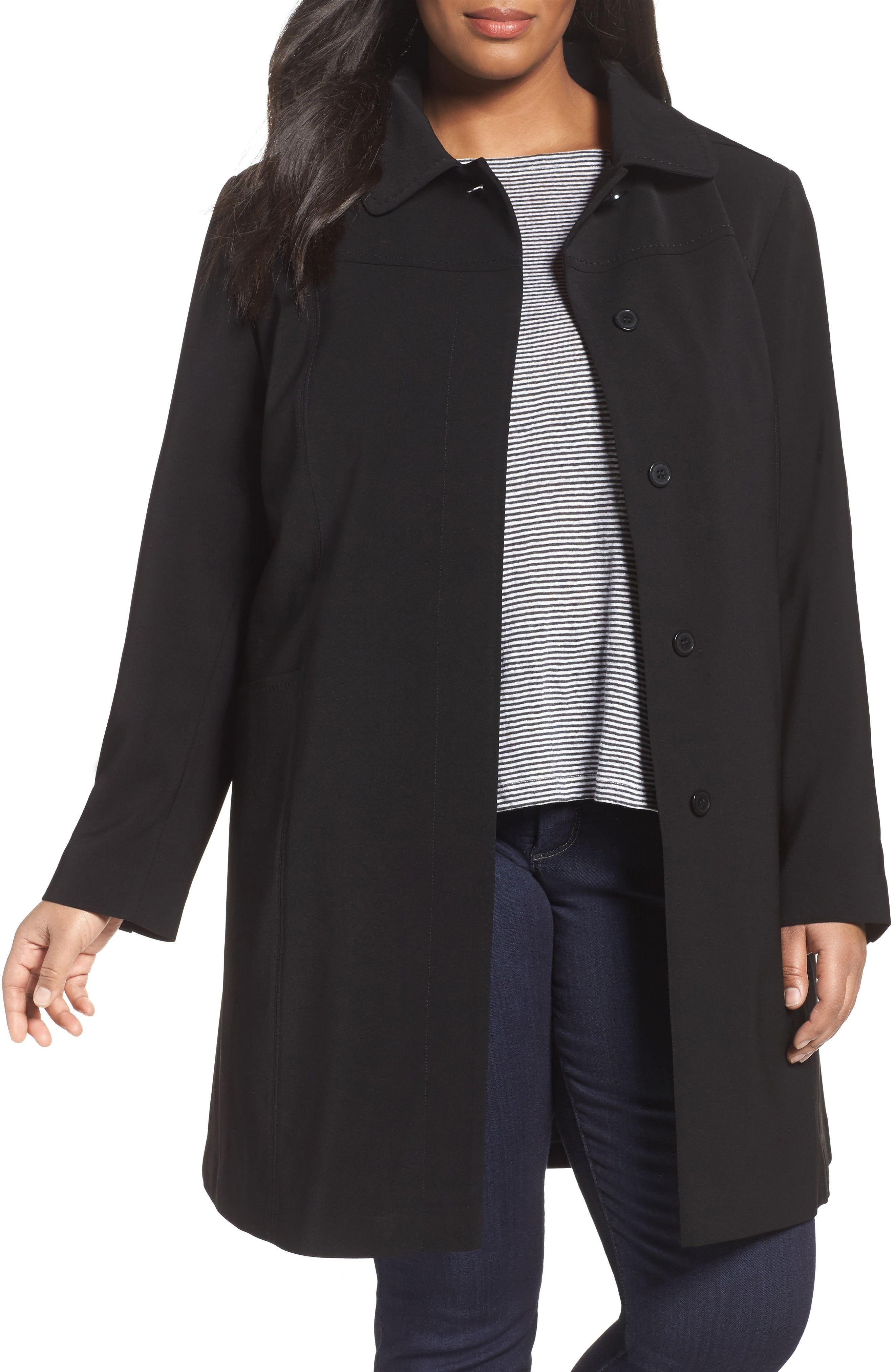 Gallery Nepage Walking Coat with Removable Hood & Liner (Plus Size)