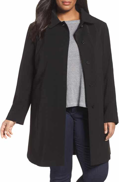 Gallery Nepage Walking Coat with Removable Hood   Liner (Plus Size)