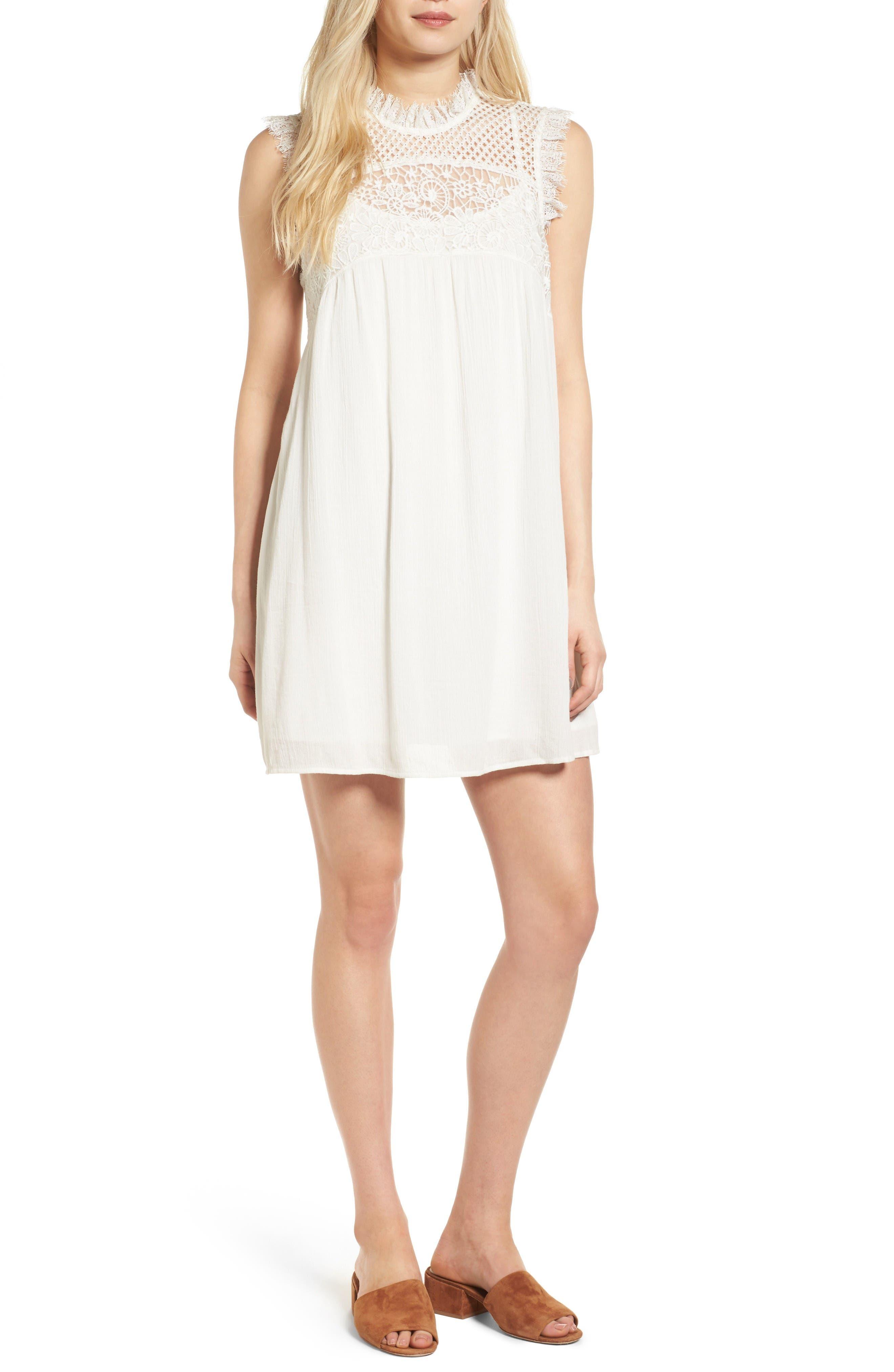 Main Image - Hinge Lace Yoke Babydoll Dress