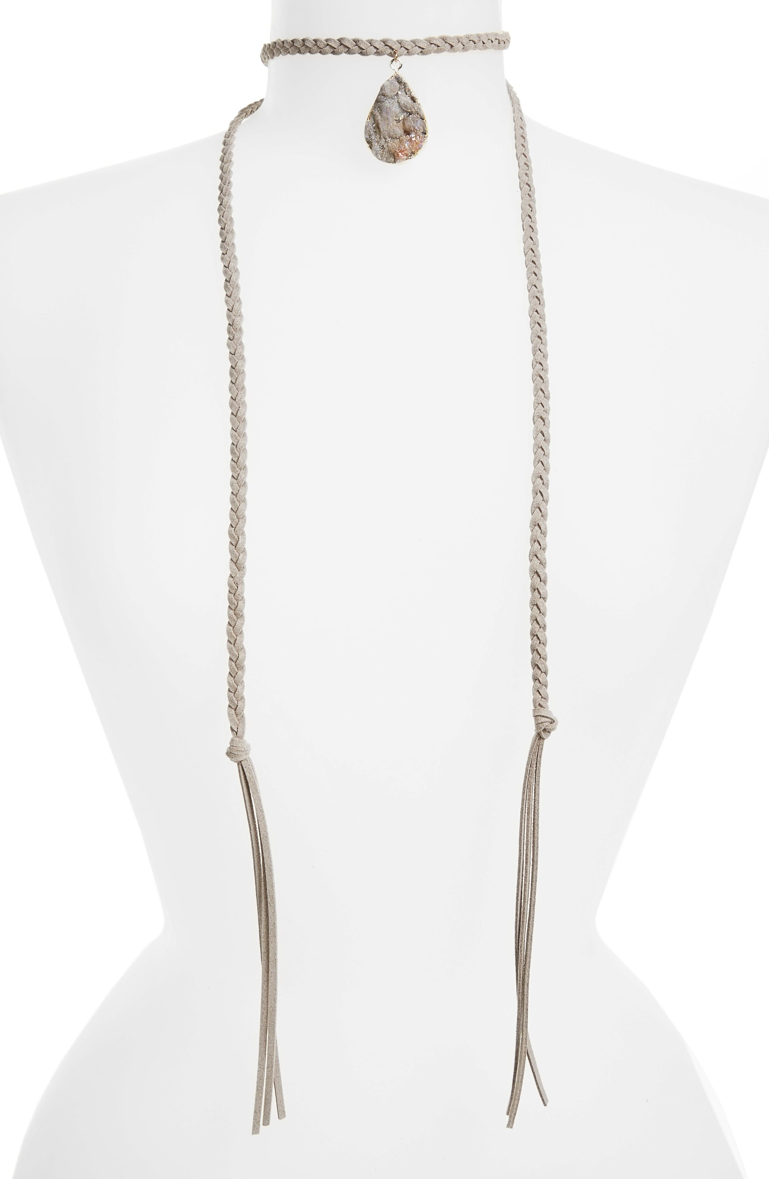 Main Image - Panacea Long Wrap Choker Necklace