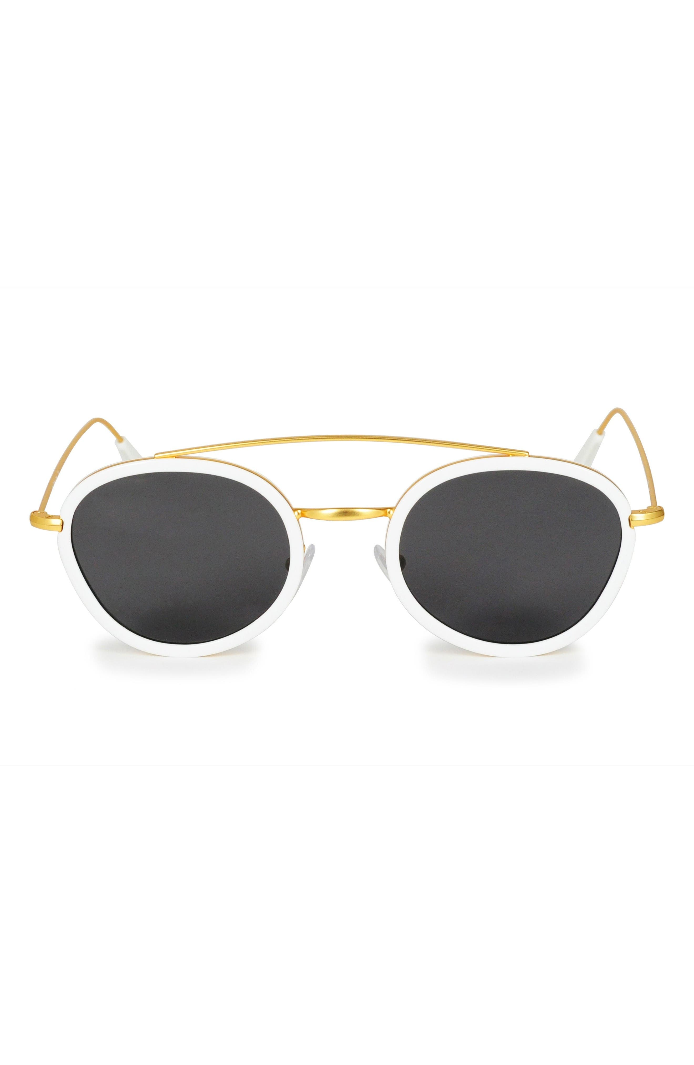 GLASSING Eddy 47mm Round Sunglasses