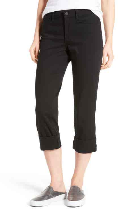NYDJ Dayla Colored Wide Cuff Capri Jeans (Regular   Petite)