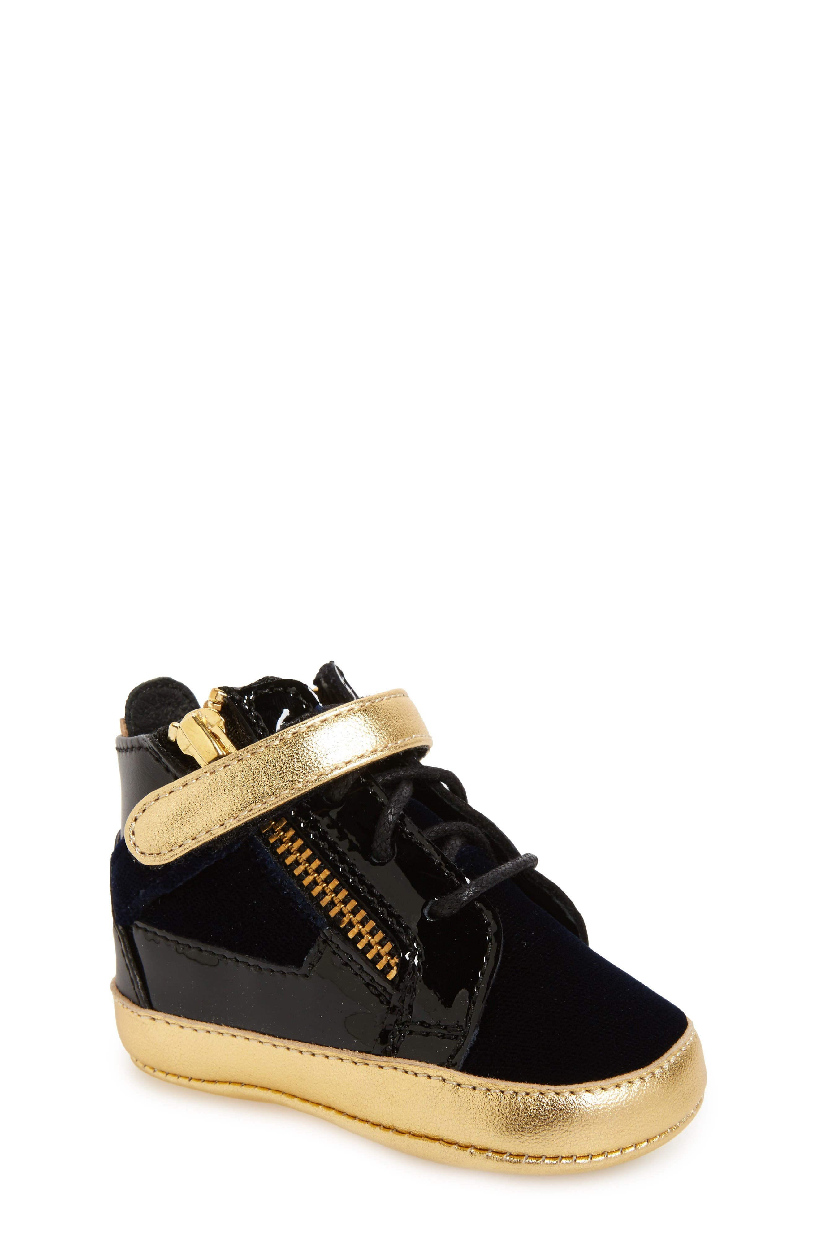 Giuseppe Zanotti Coby Junior Veronica High Top Crib Shoe (Baby)