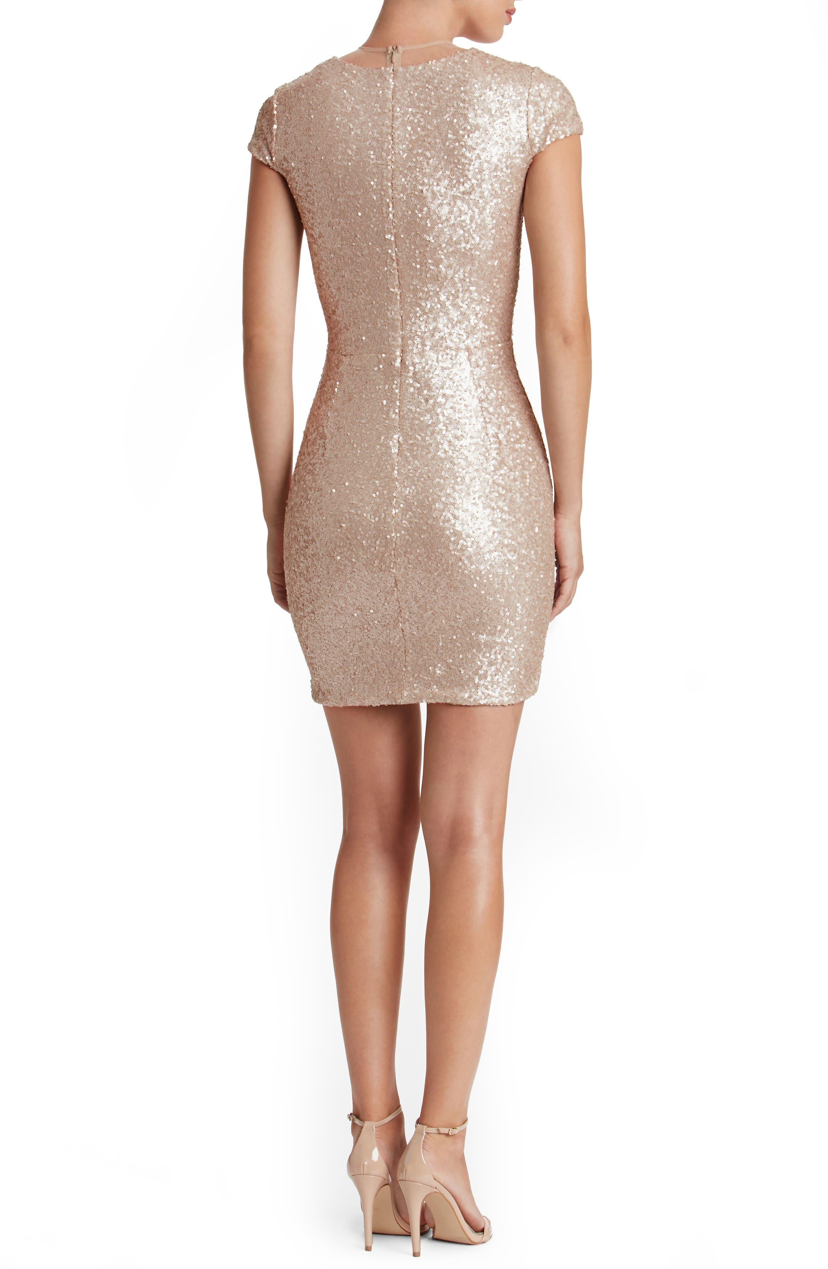 Alternate Image 2  - Dress the Population Kylie Sequin Minidress