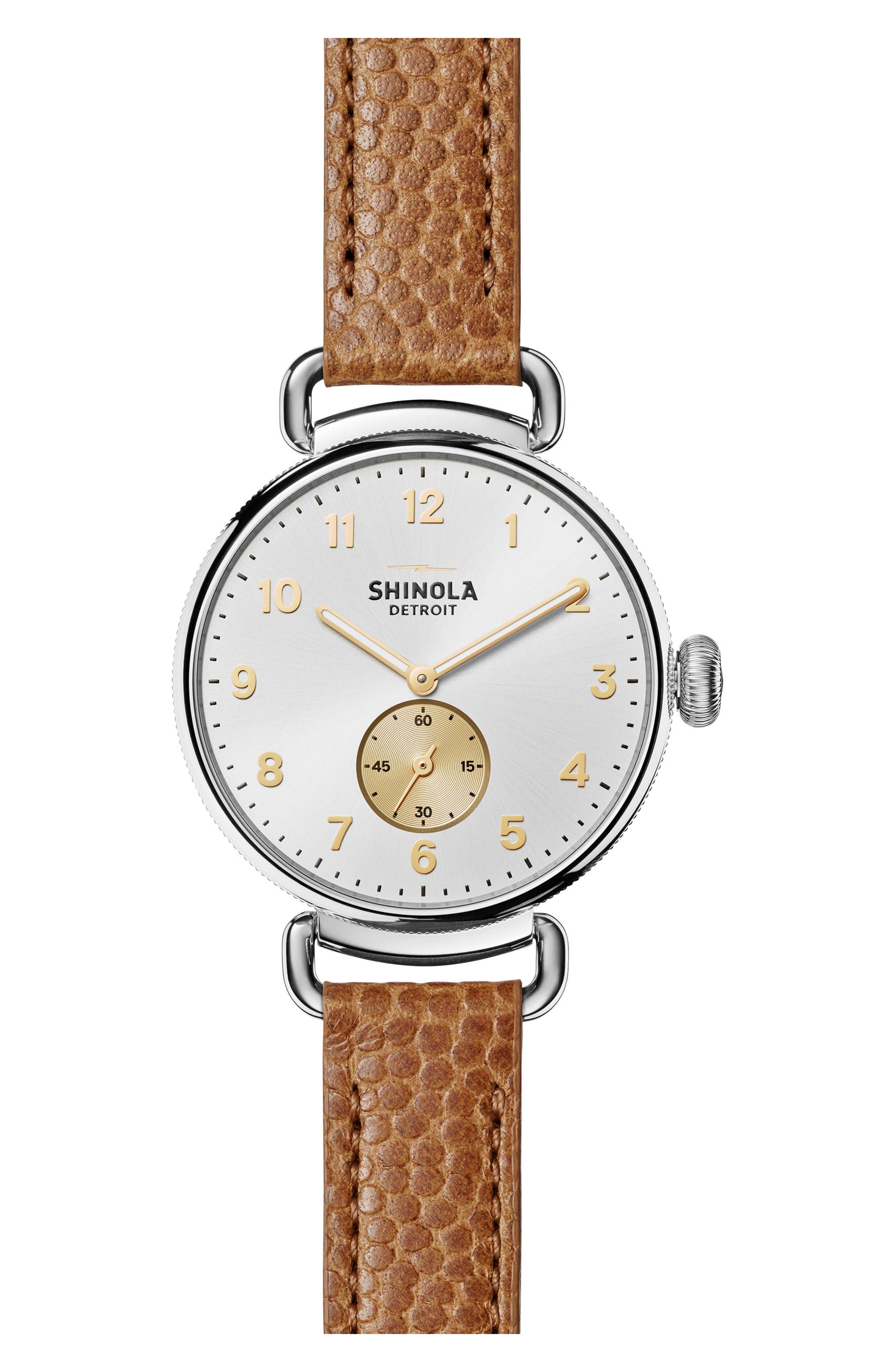 Main Image - Shinola The Canfield Alligator Strap Watch, 38mm