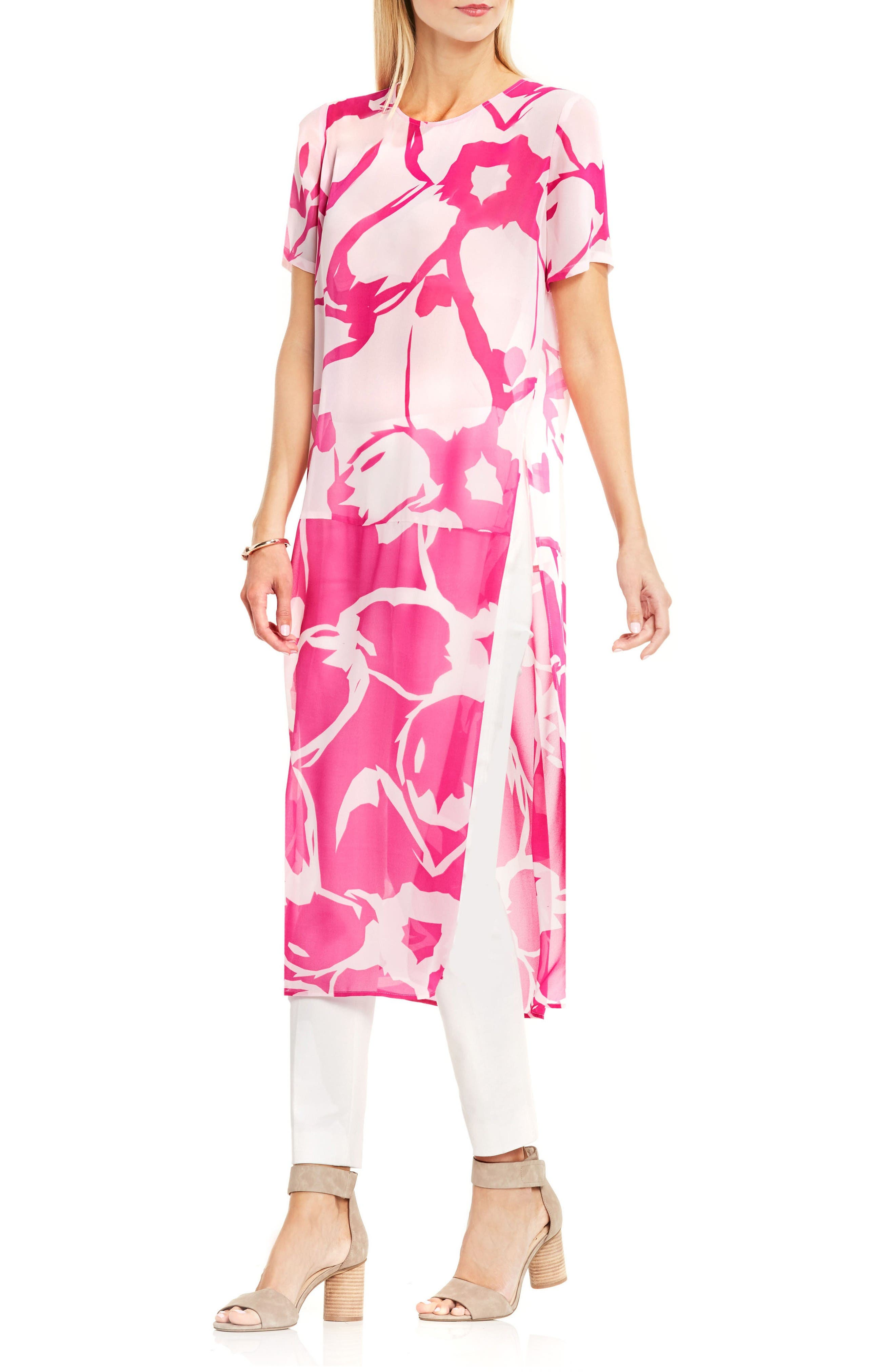 Alternate Image 1 Selected - Vince Camuto Floral Print Tunic