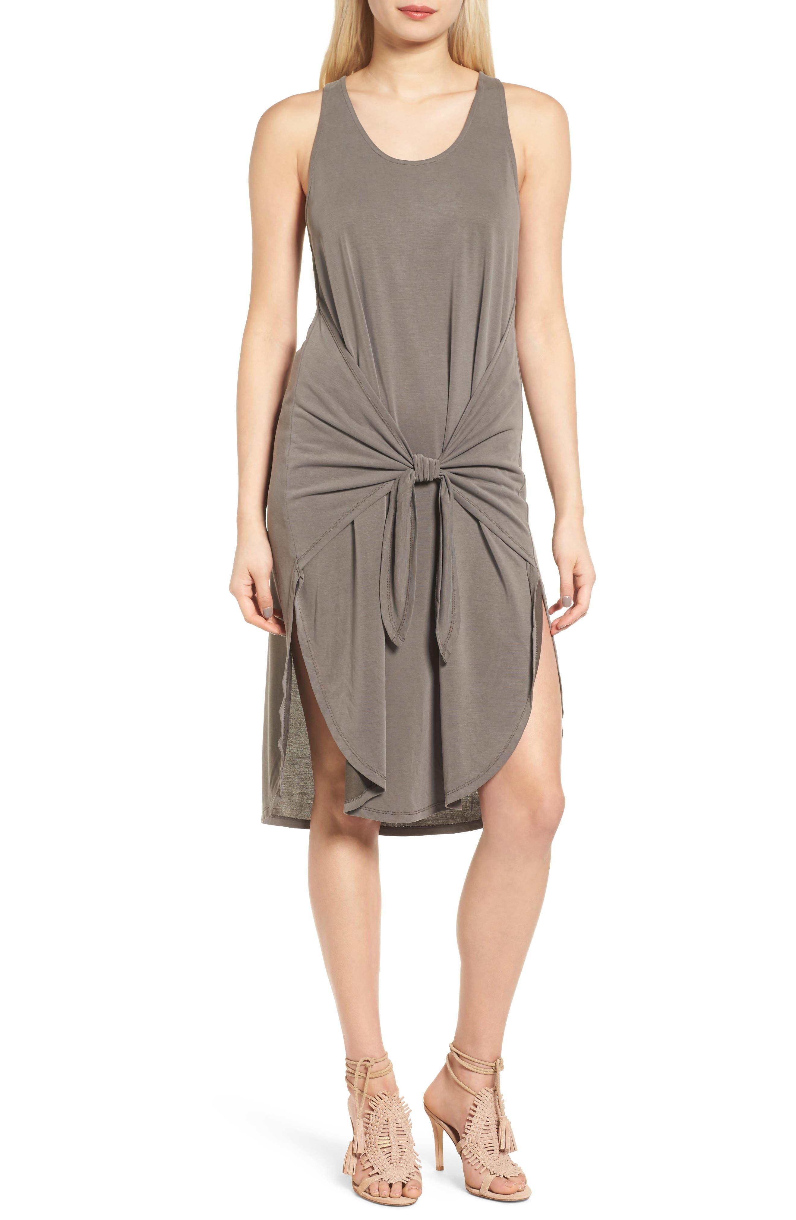 Trouvé Tie Front Knit Dress
