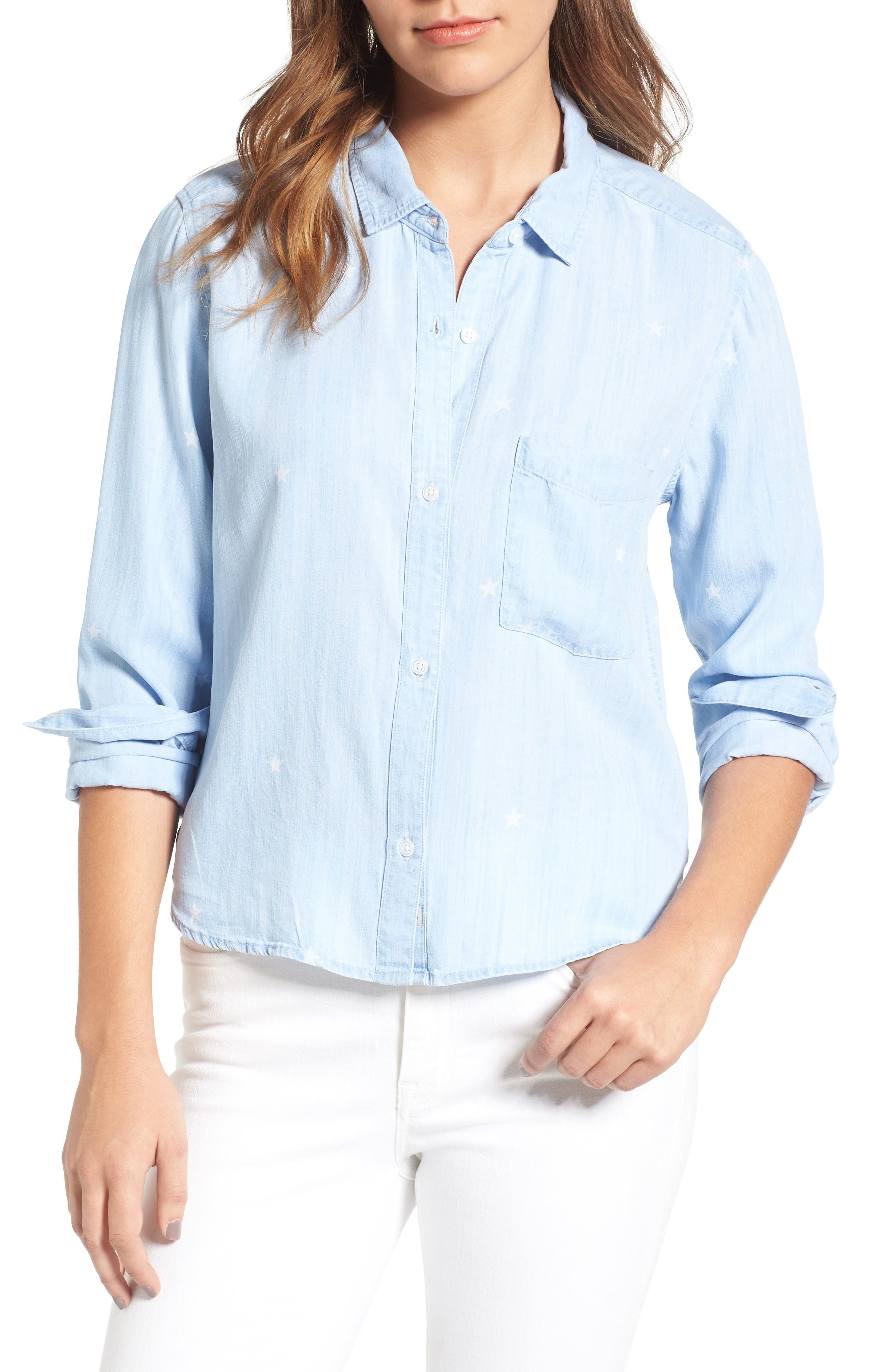 Rails Dana Star Print Chambray Shirt