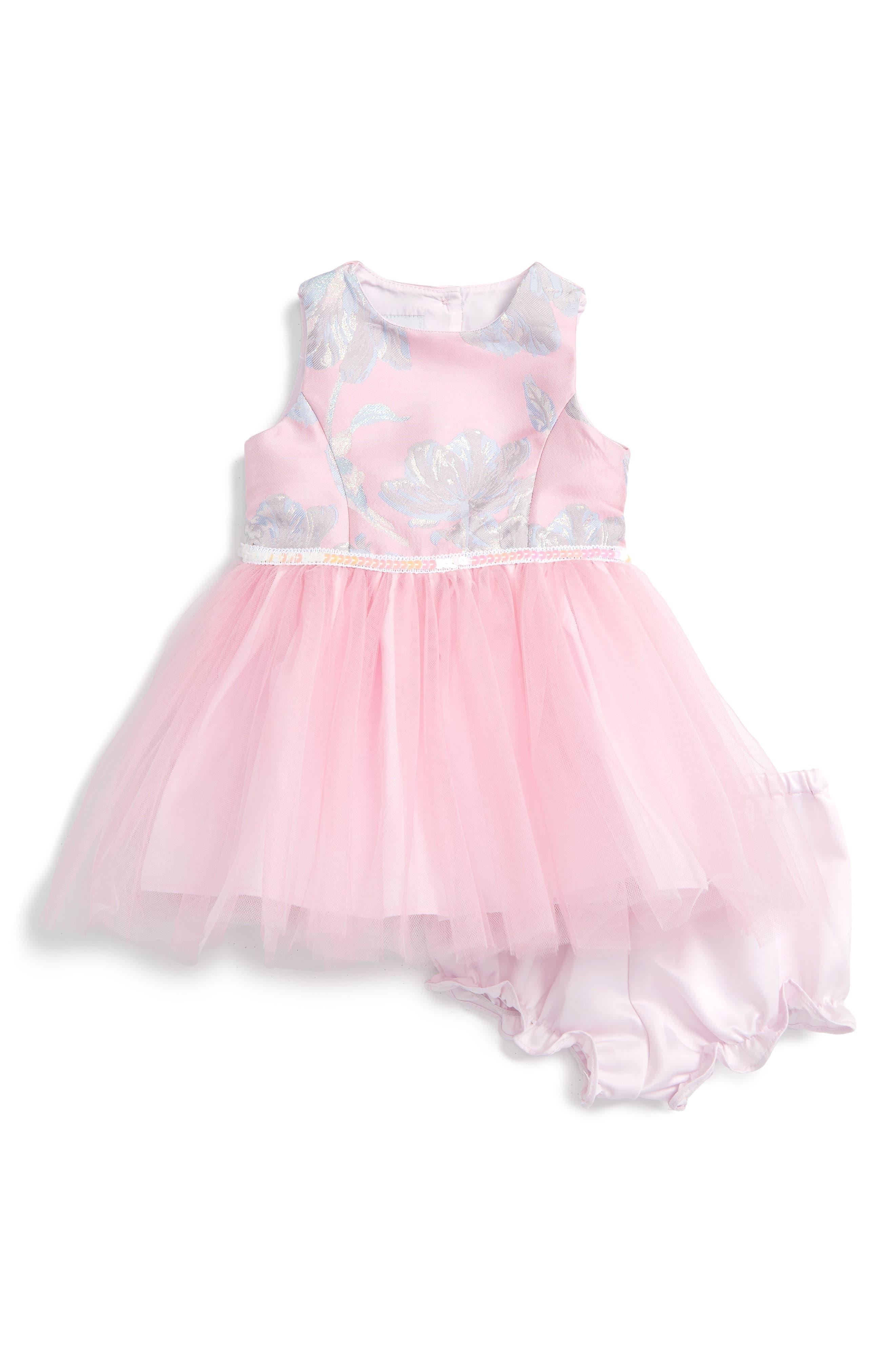 PIPPA & JULIE Brocade Floral Ballerina Dress