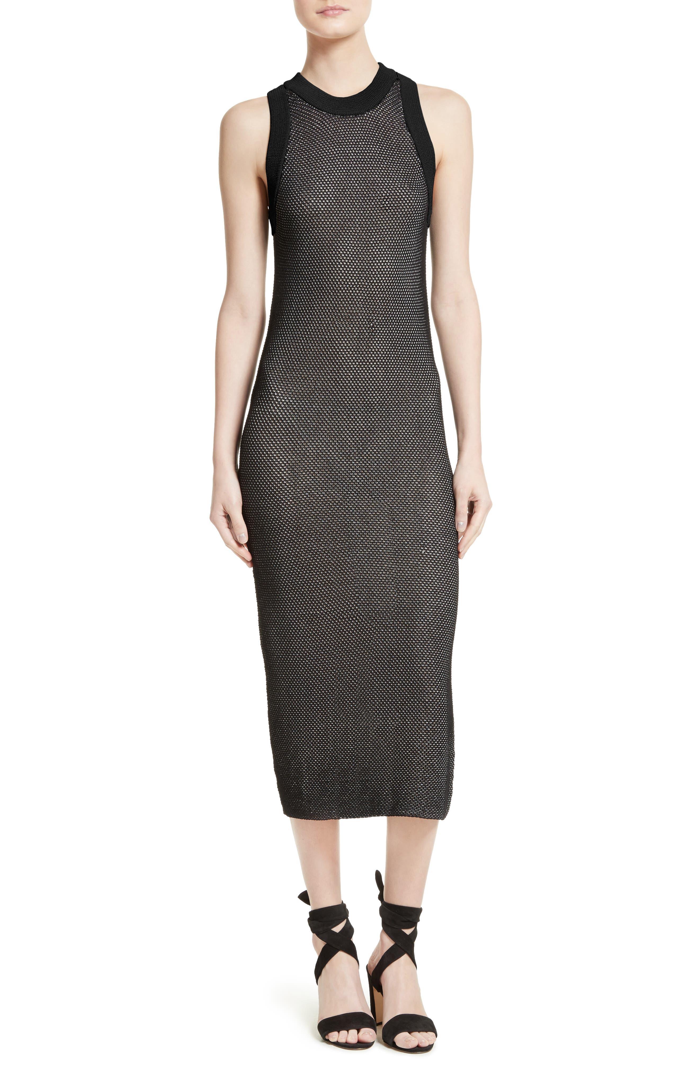 Milly Mesh Midi Dress