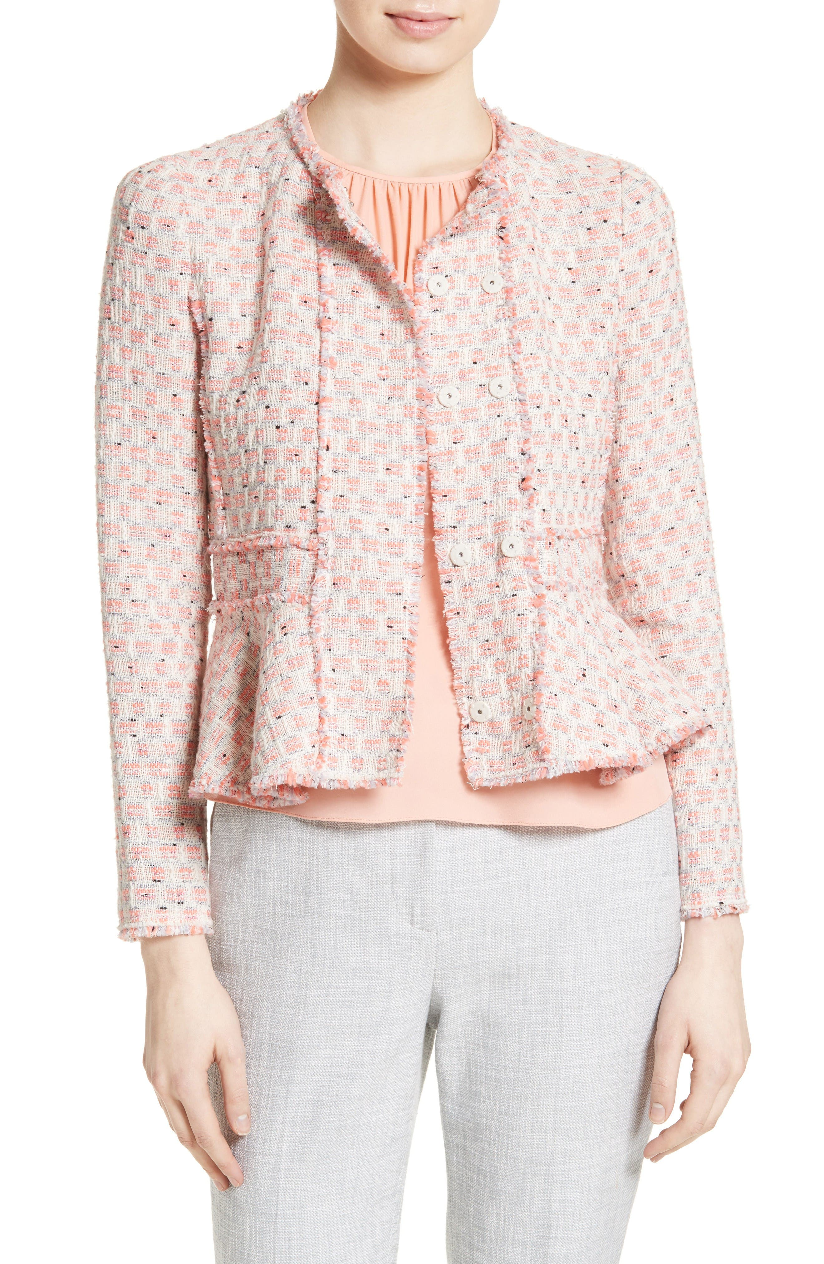 Alternate Image 1 Selected - Rebecca Taylor Tweed Peplum Jacket