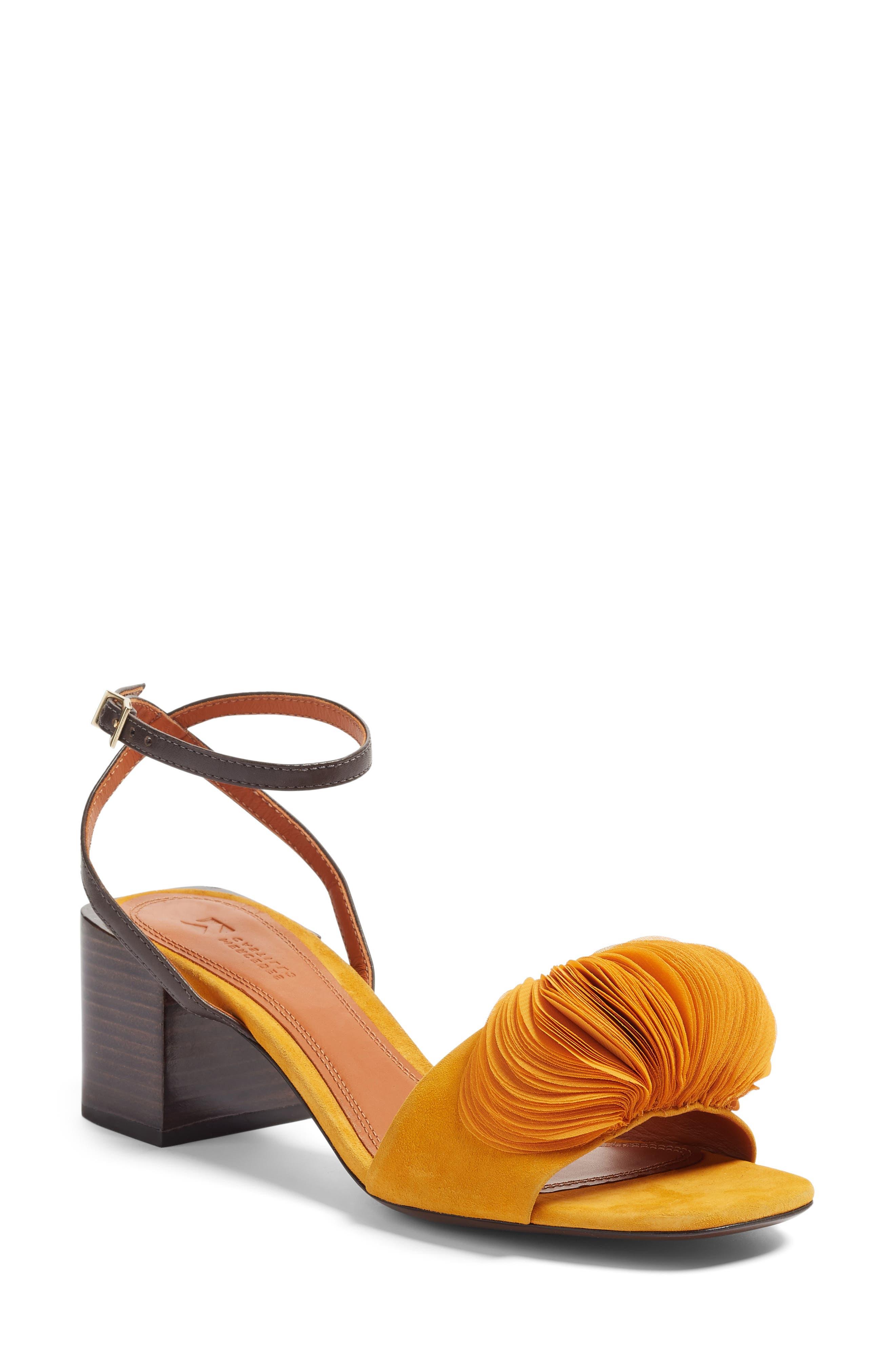 Mercedes Castillo Riza Block Heel Sandal (Women)