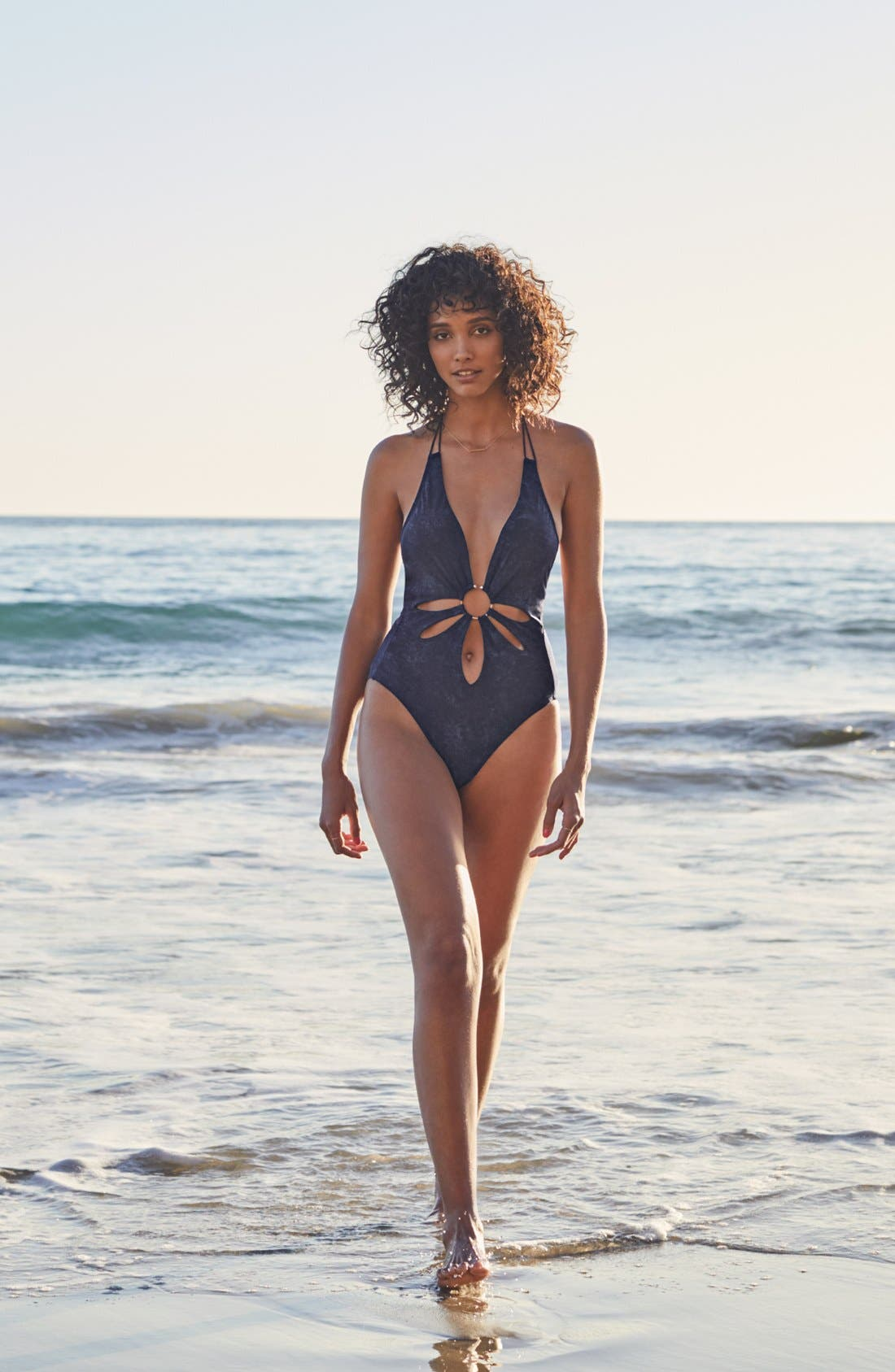 Alternate Image 6  - Robin Piccone Plunge One-Piece Swimsuit