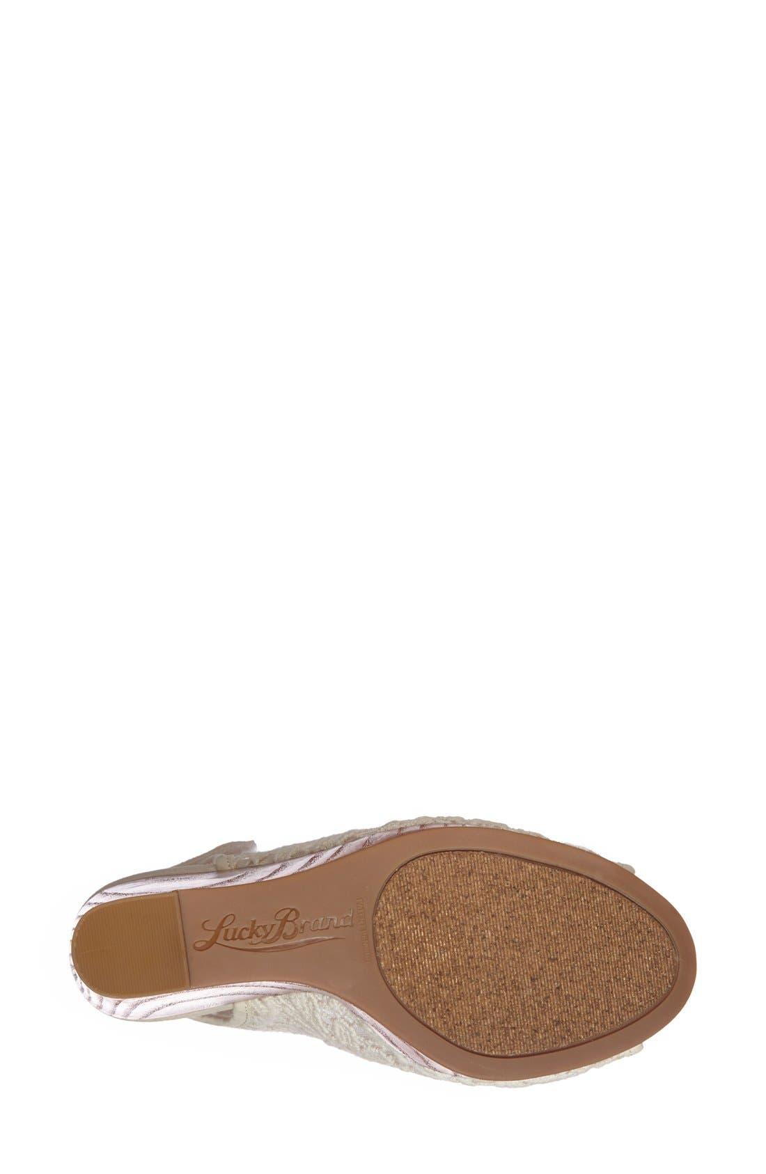 Alternate Image 4  - Lucky Brand 'Rezdah' Wedge Platform Sandal (Women)