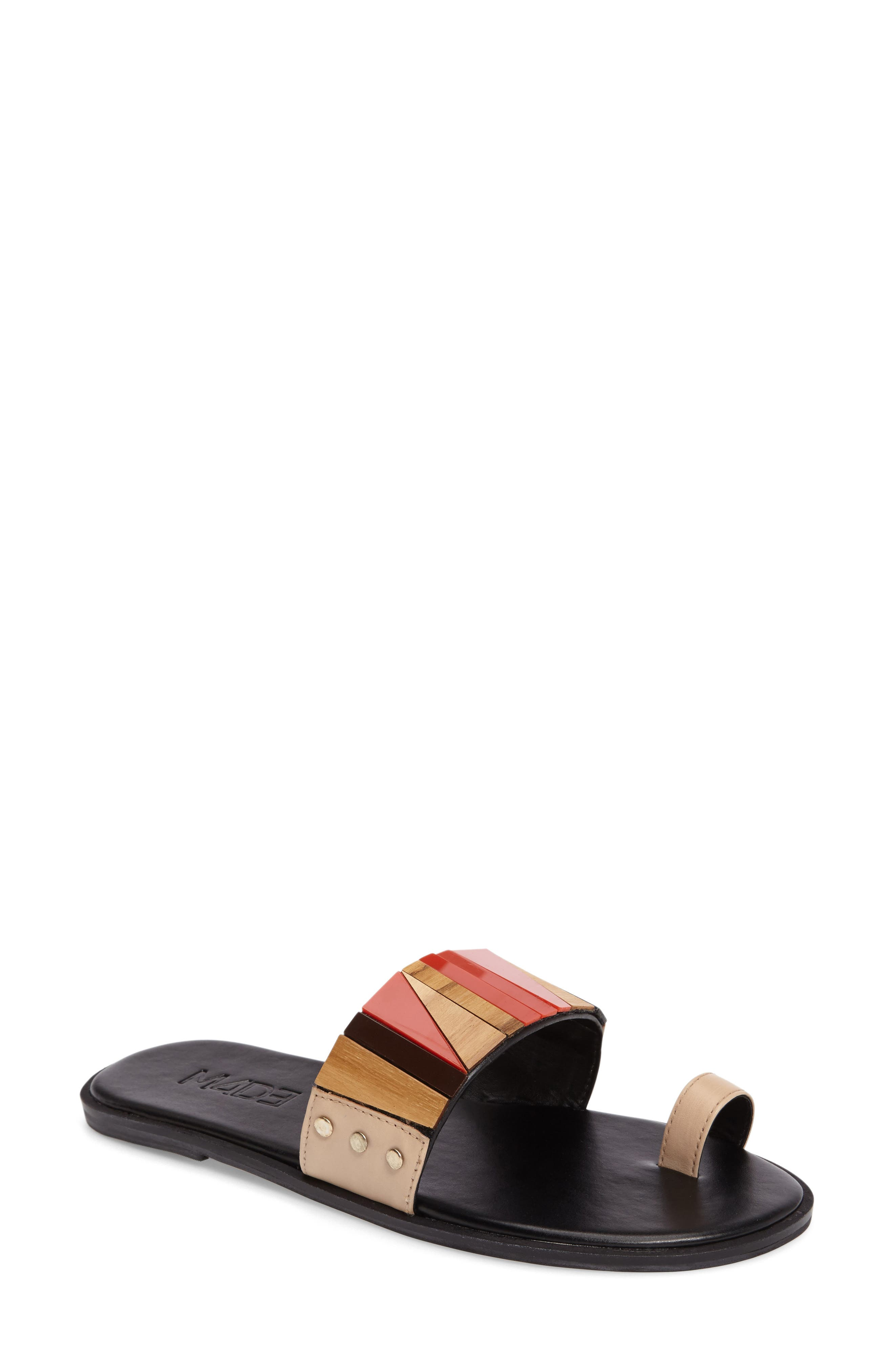 M4D3 FOOTWEAR M4D3 Poppy Toe Loop Slide Sandal