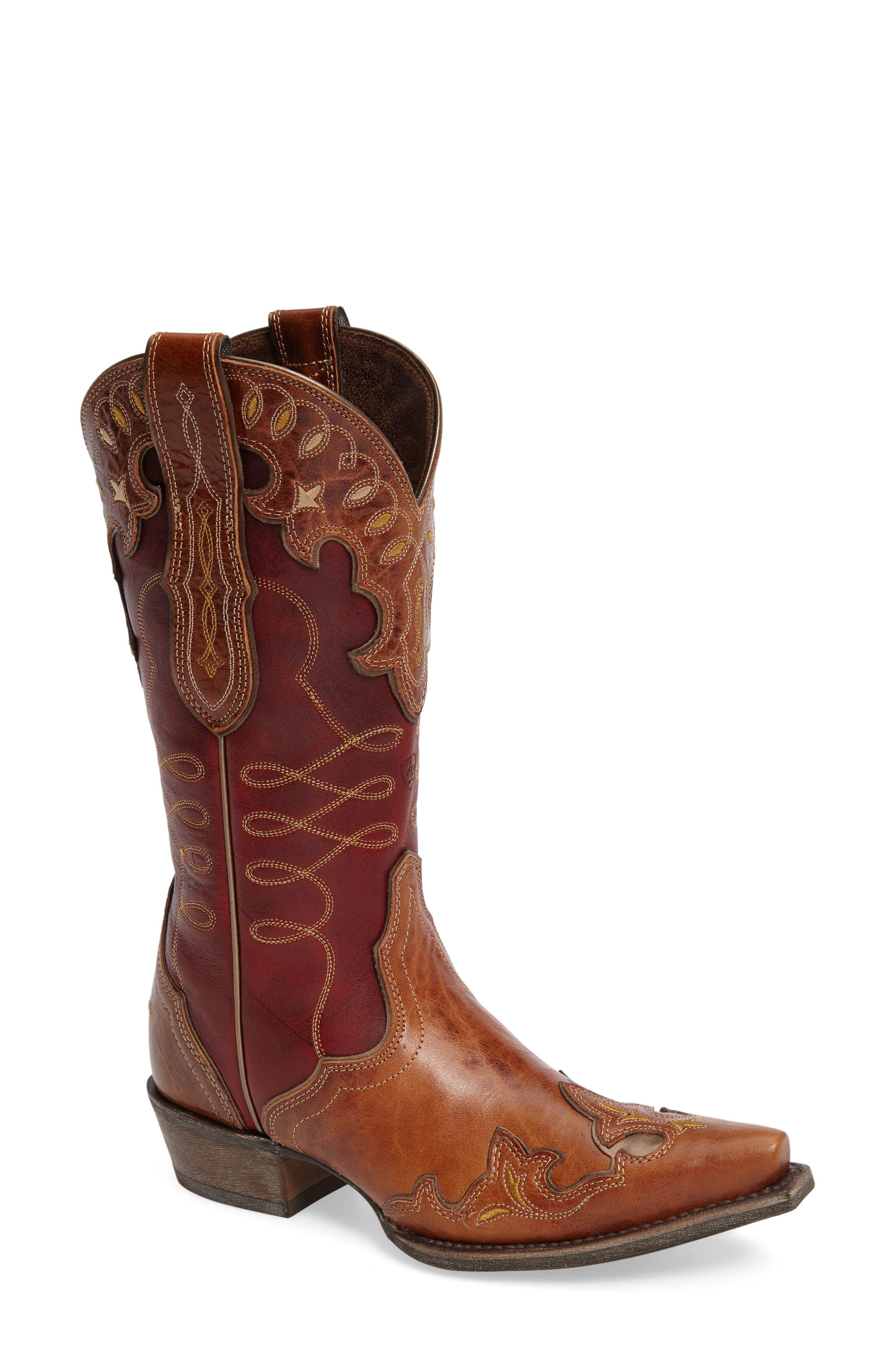 Main Image - Ariat Zealous Wingtip Western Boot (Women)