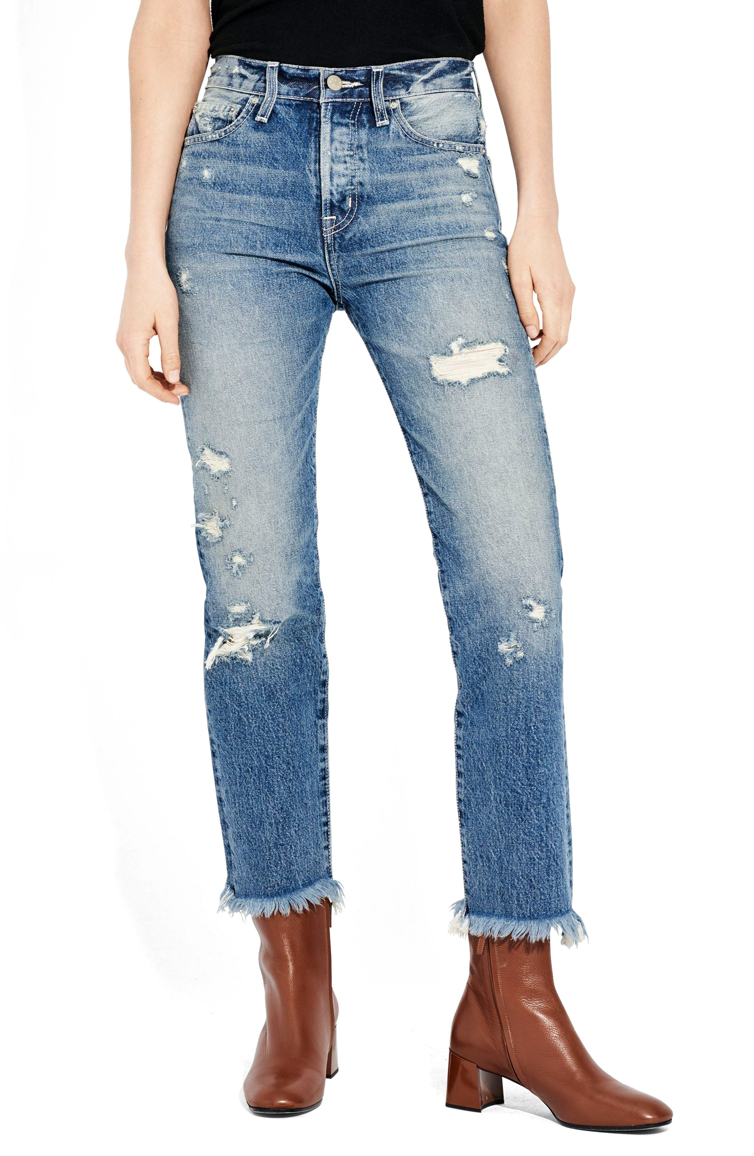 AYR The Form Crop Straight Leg Jeans (Rude Boy)