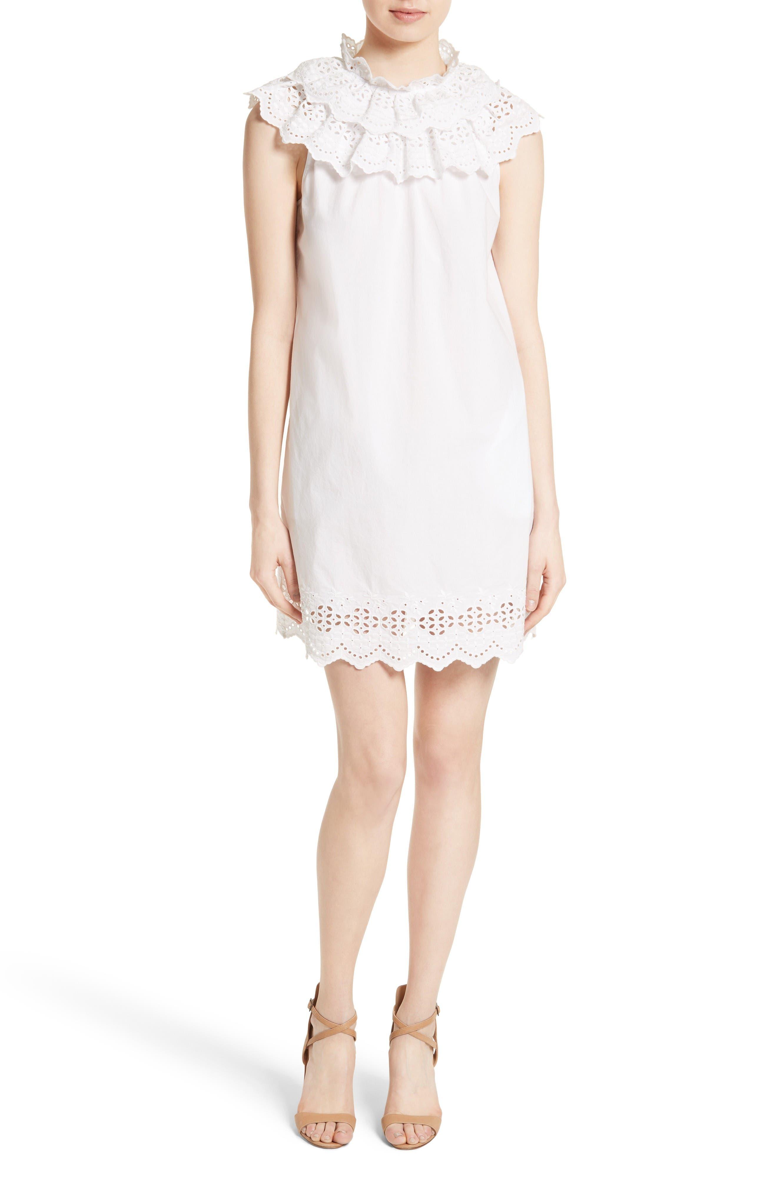 La Vie Rebecca Taylor Eyelet Shift Dress