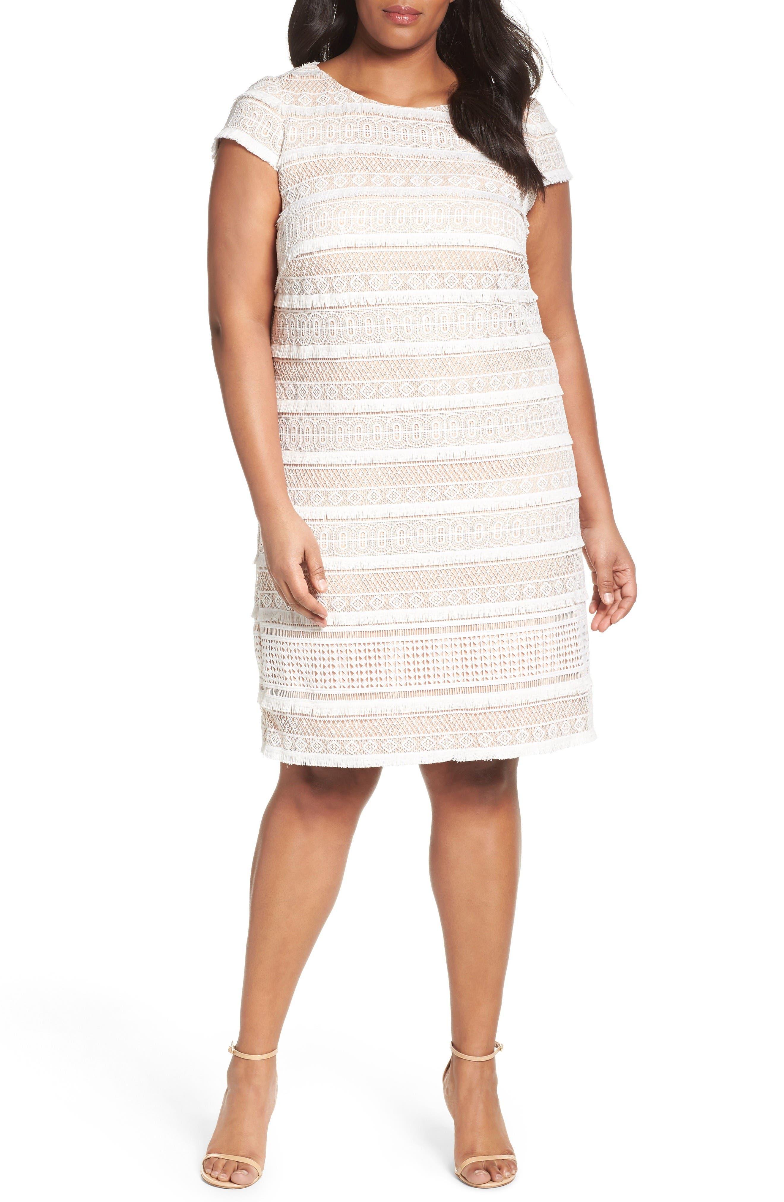 eliza j fringed lace sheath dress plus size alternate image 6 eliza j ...