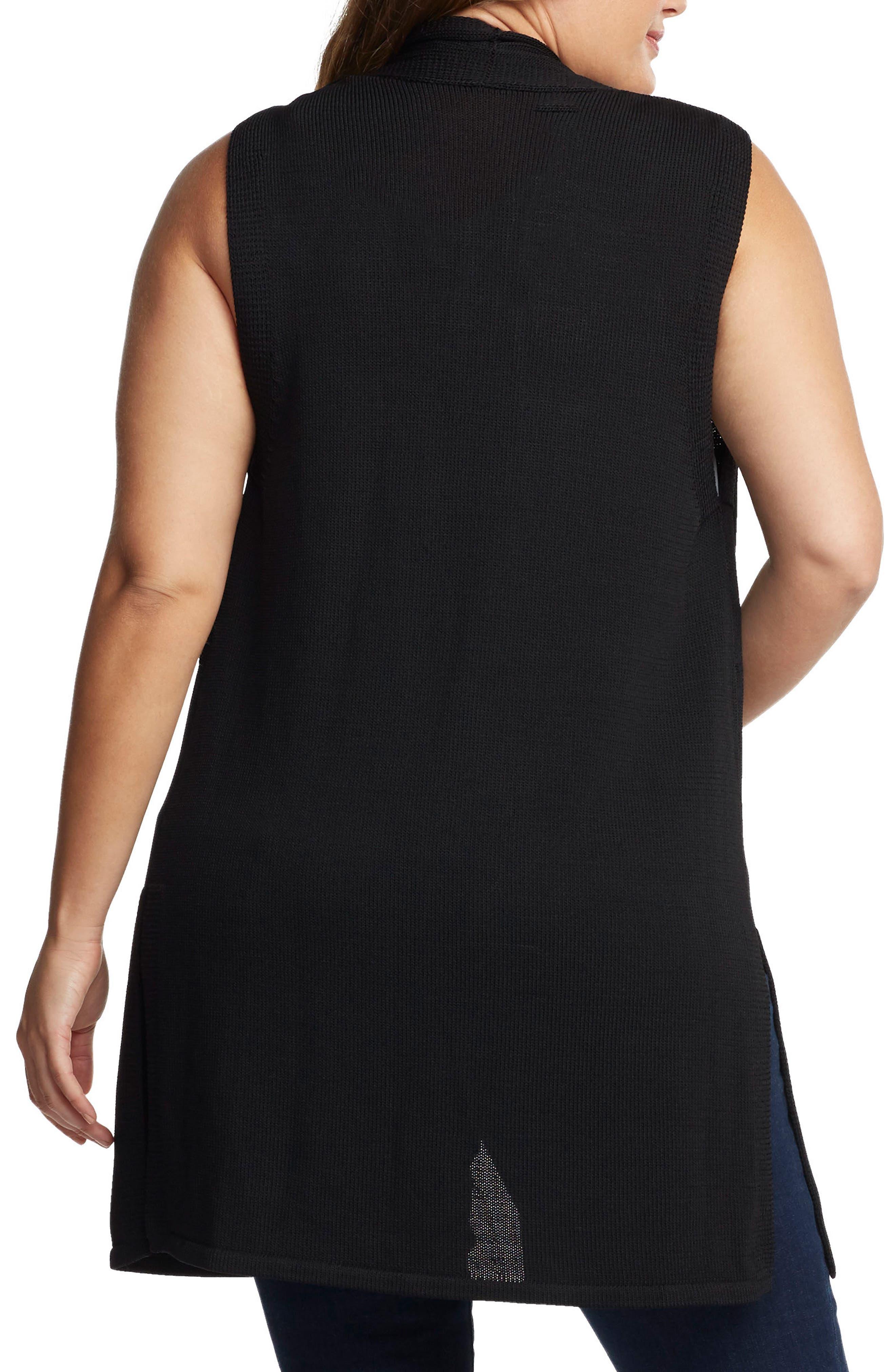 Alternate Image 2  - Tart Holly Knit Open Front Vest (Plus Size)