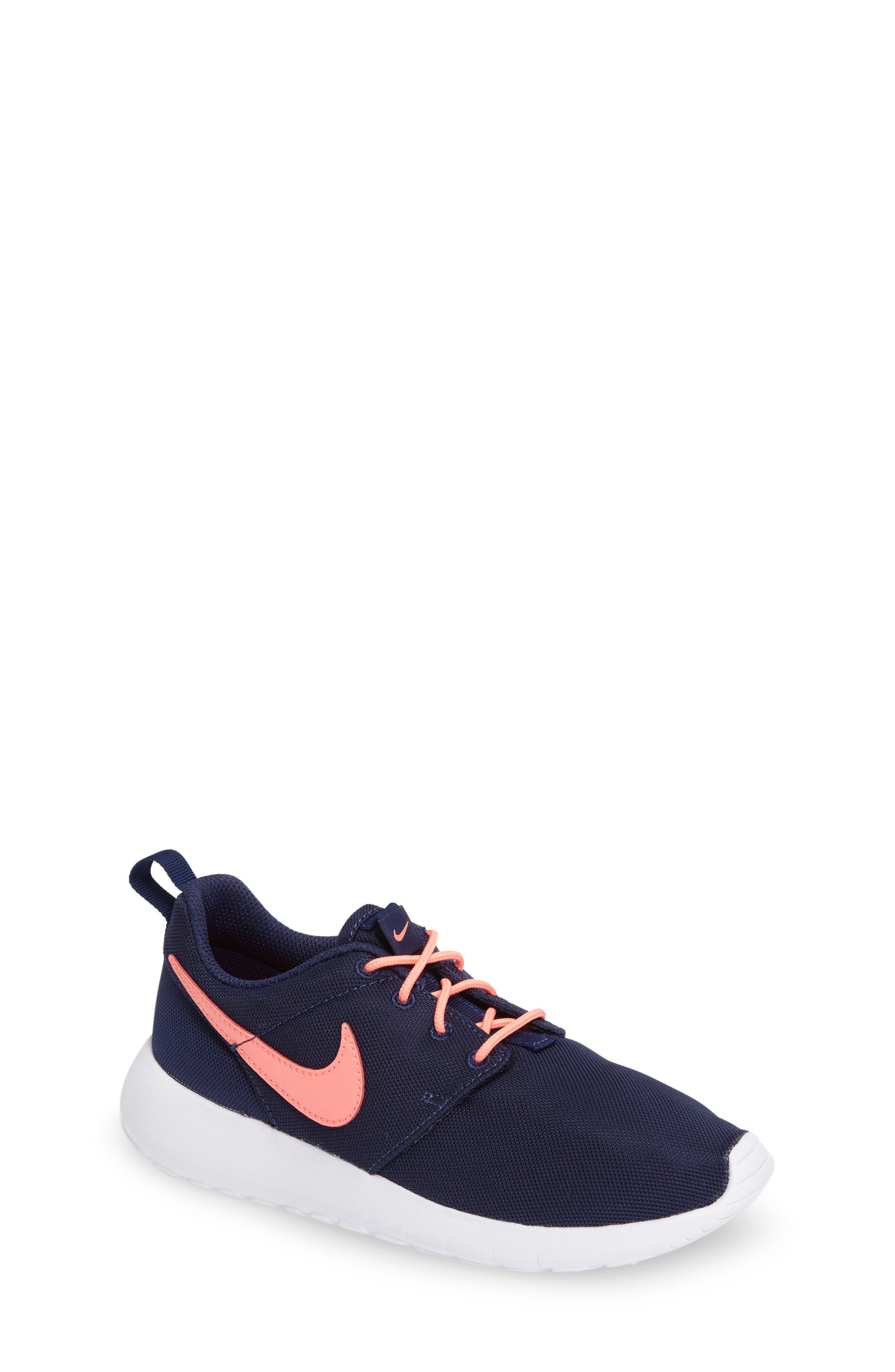 Alternate Image 1 Selected - Nike 'Roshe Run' Athletic Shoe (Little Kid & Big Kid)