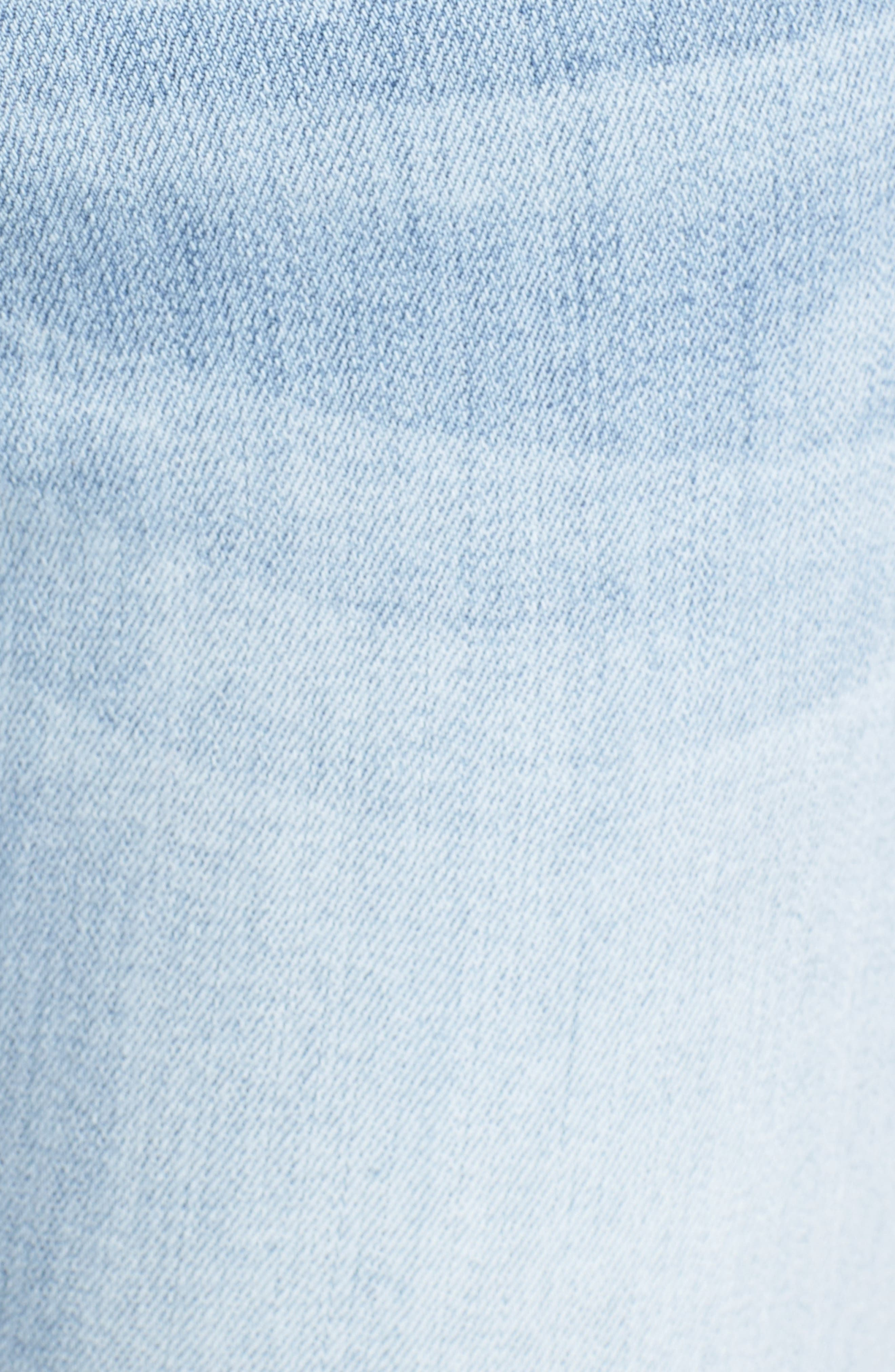 Alternate Image 5  - Kut from the Kloth Reese Uneven Hem Straight Ankle Jeans (Celebratory)
