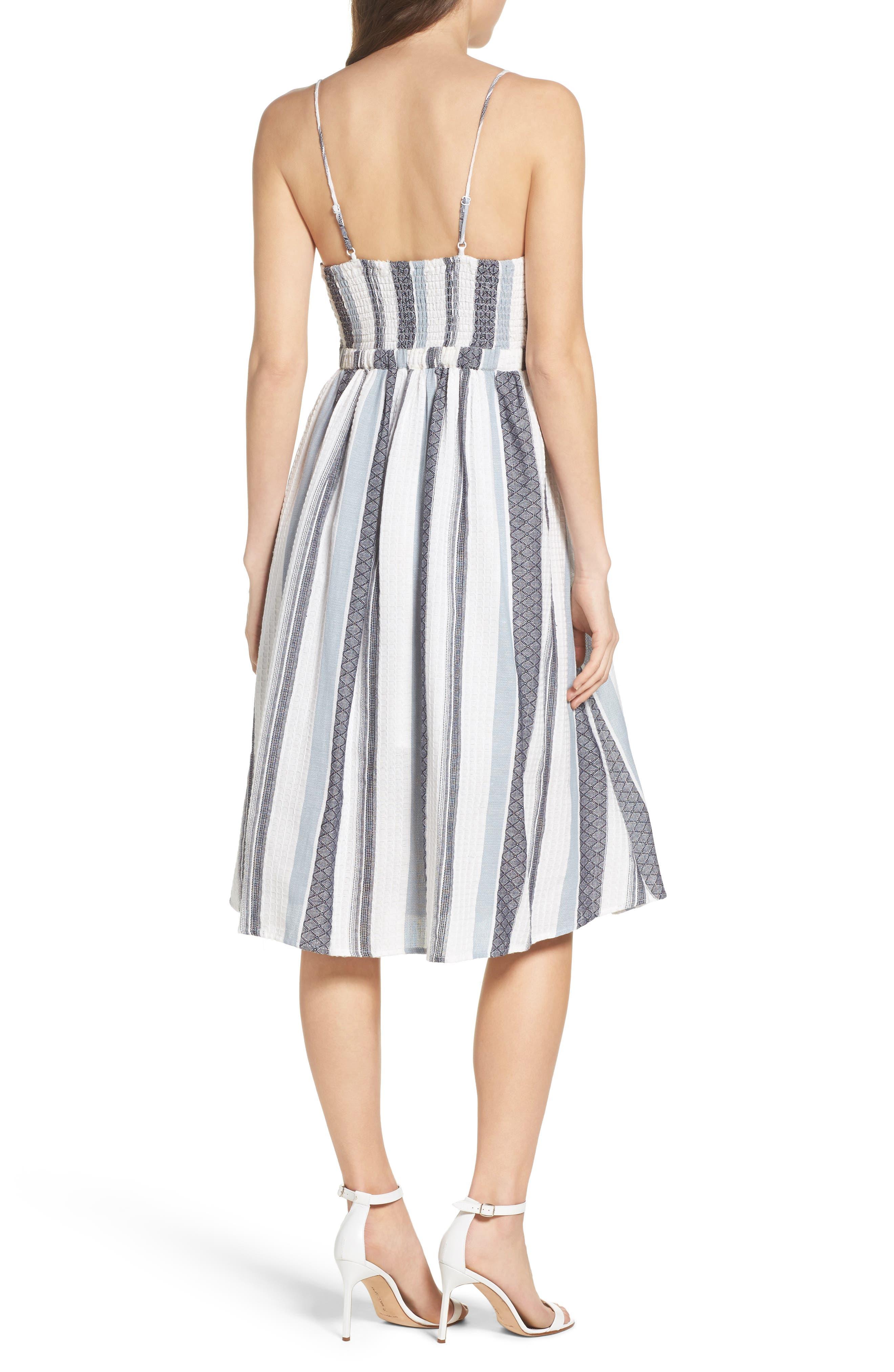Alternate Image 2  - Bardot Ibiza Stripe Cotton Bow Front Sundress