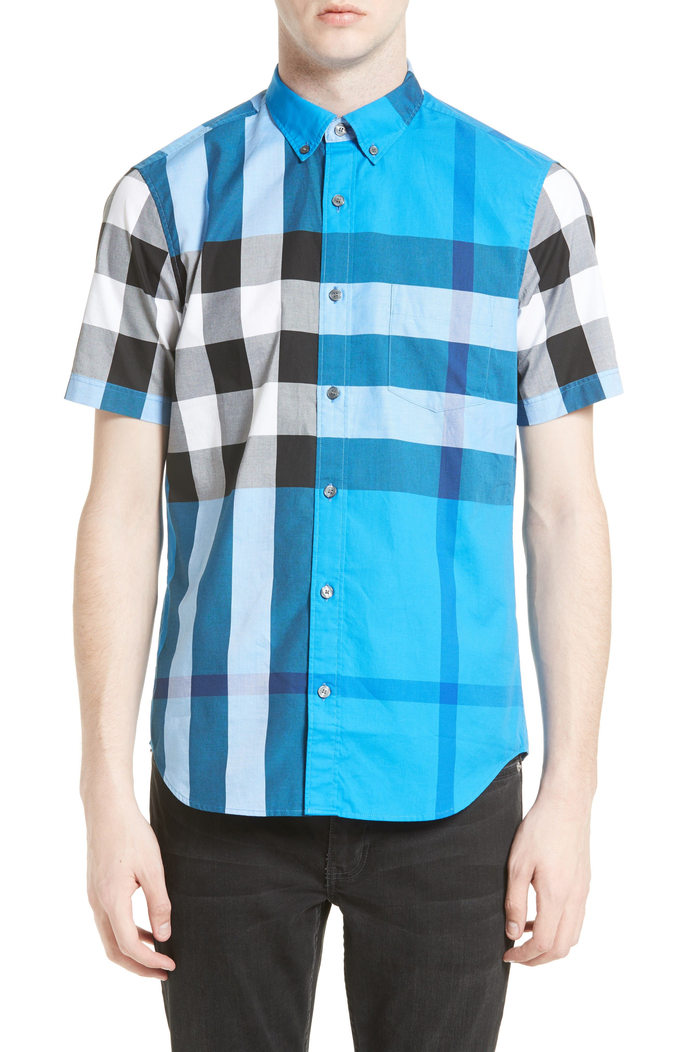 Alternate Image 1 Selected - Burberry Fred Check Sport Shirt
