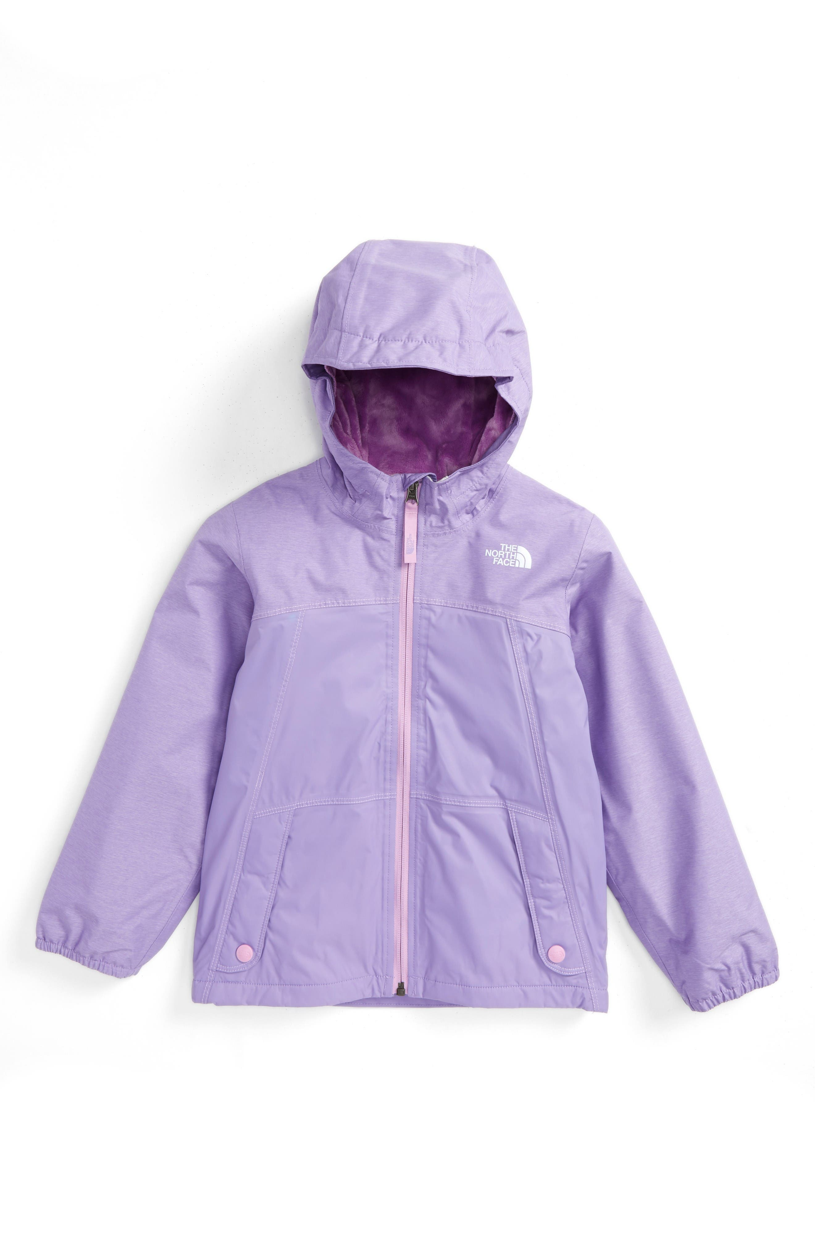 The North Face 'Warm Storm' Hooded Waterproof Jacket (Toddler Girls & Little Girls)