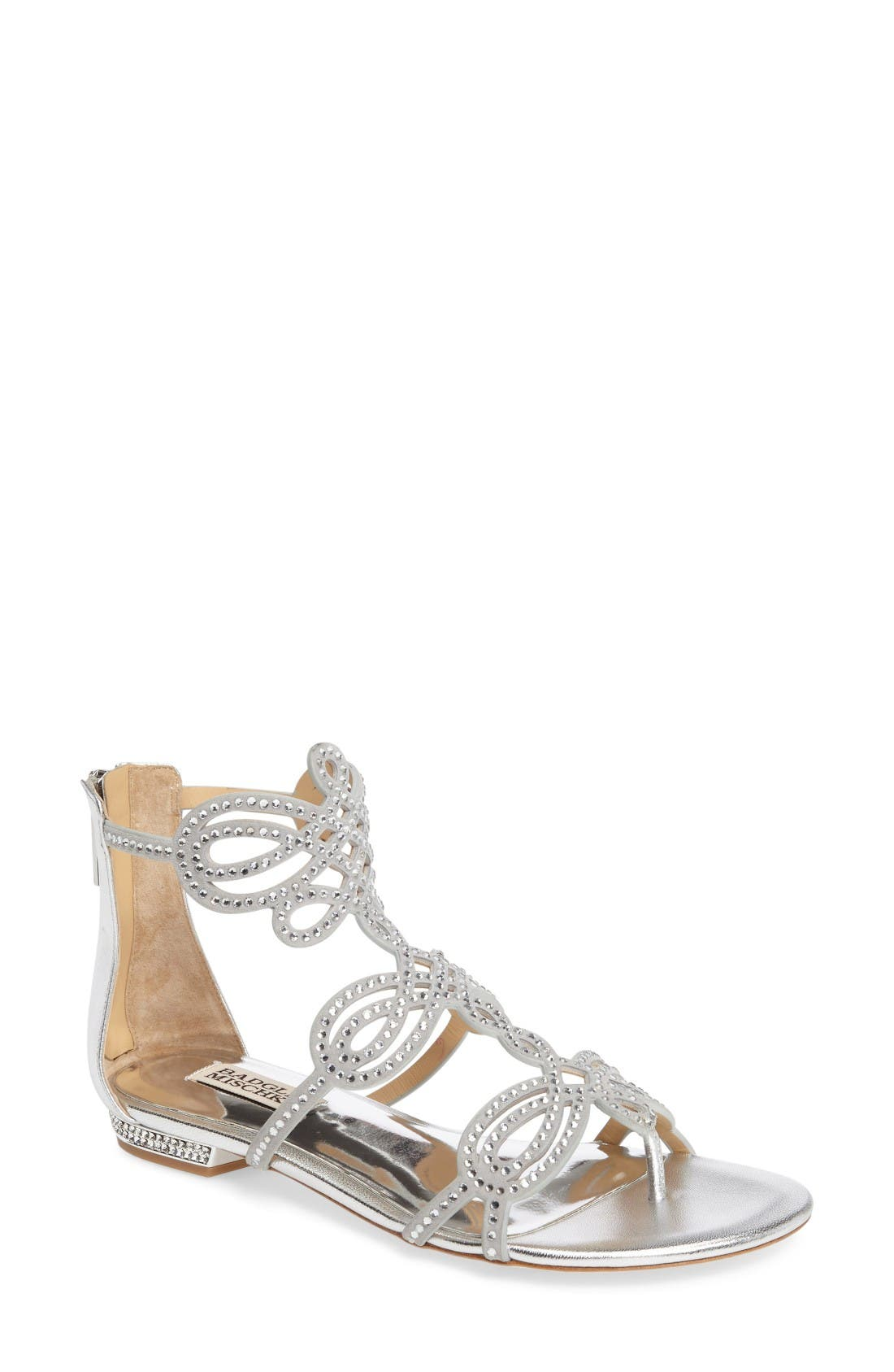 Badgley Mischka Tempe Embellished Sandal (Women)