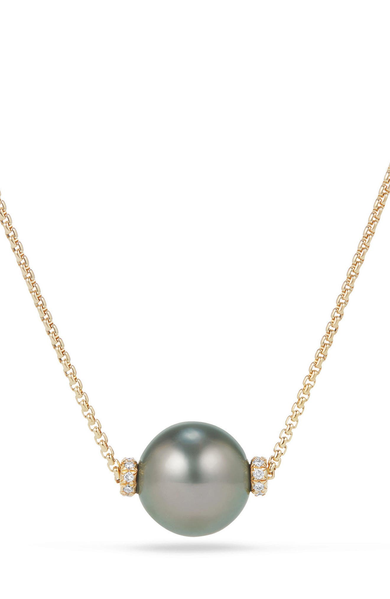 David Yurman Solari Pearl Station Necklace