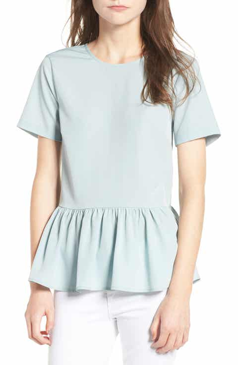 Hinge Tie Back Peplum Top