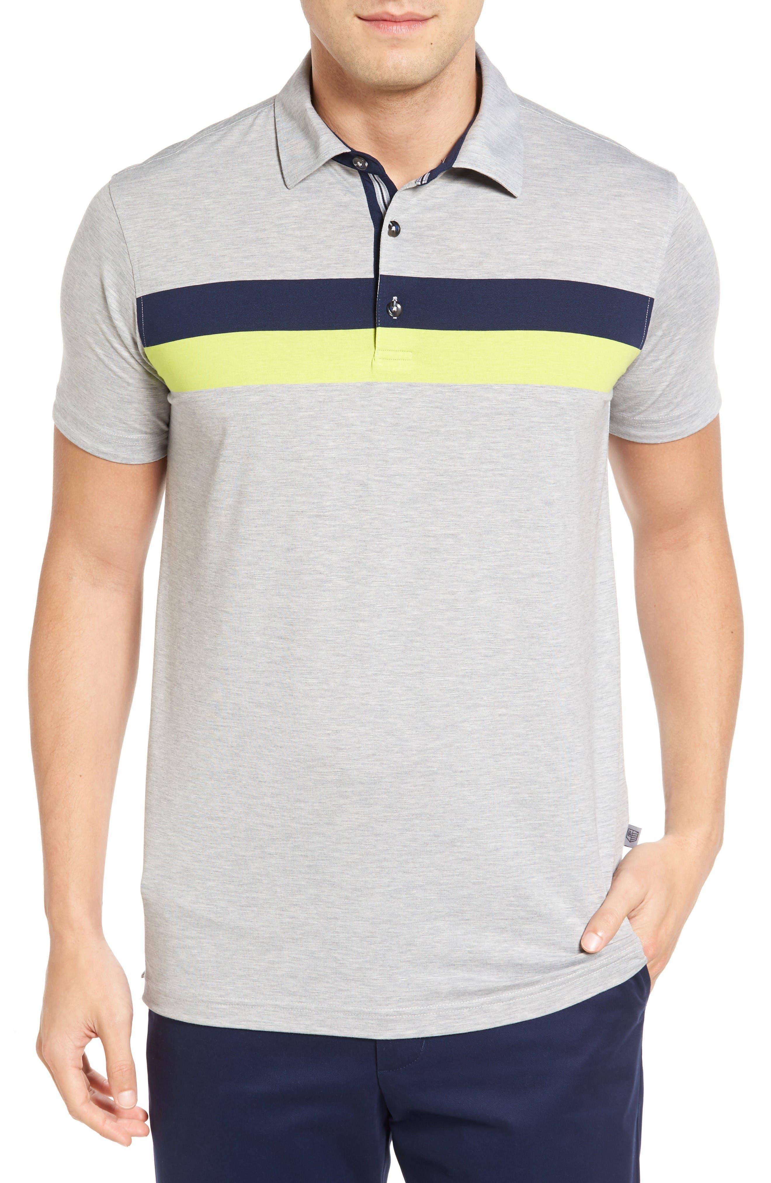 Bobby Jones Ace Chest Stripe Jersey Golf Polo