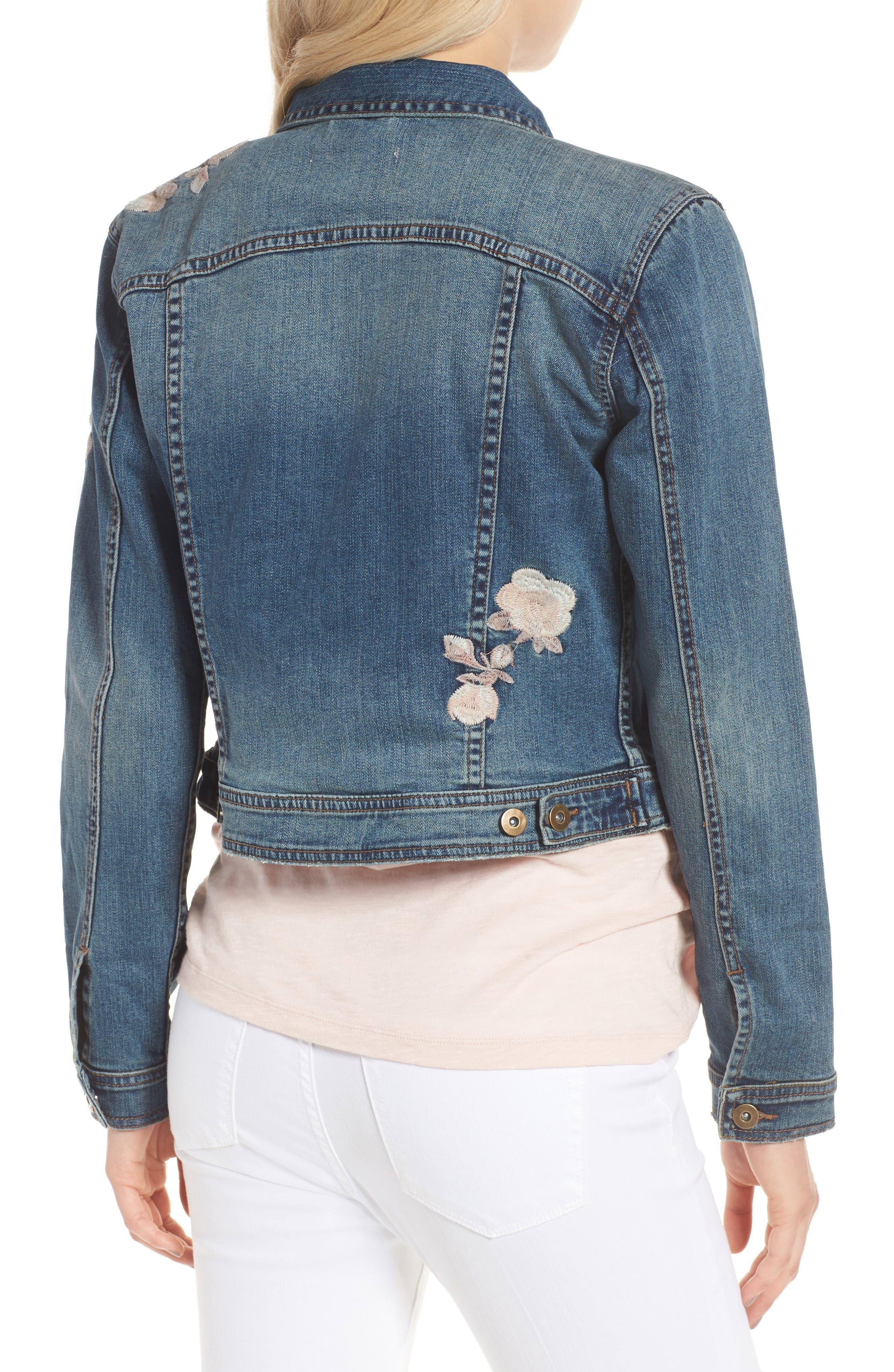 Alternate Image 2  - BILLY T Embroidered Denim Jacket