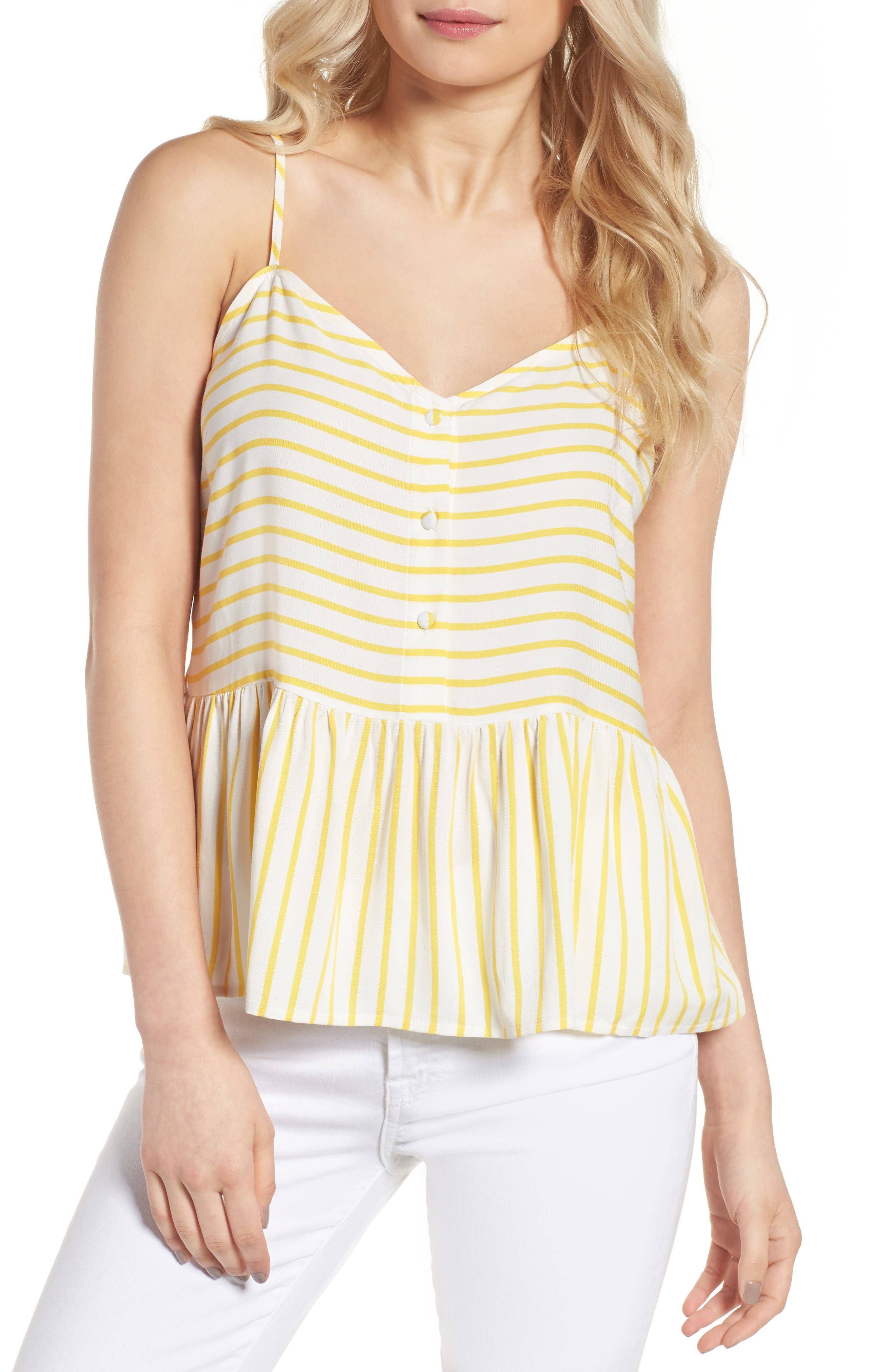 Alternate Image 1 Selected - cupcakes and cashmere Emmanuel Stripe Tank