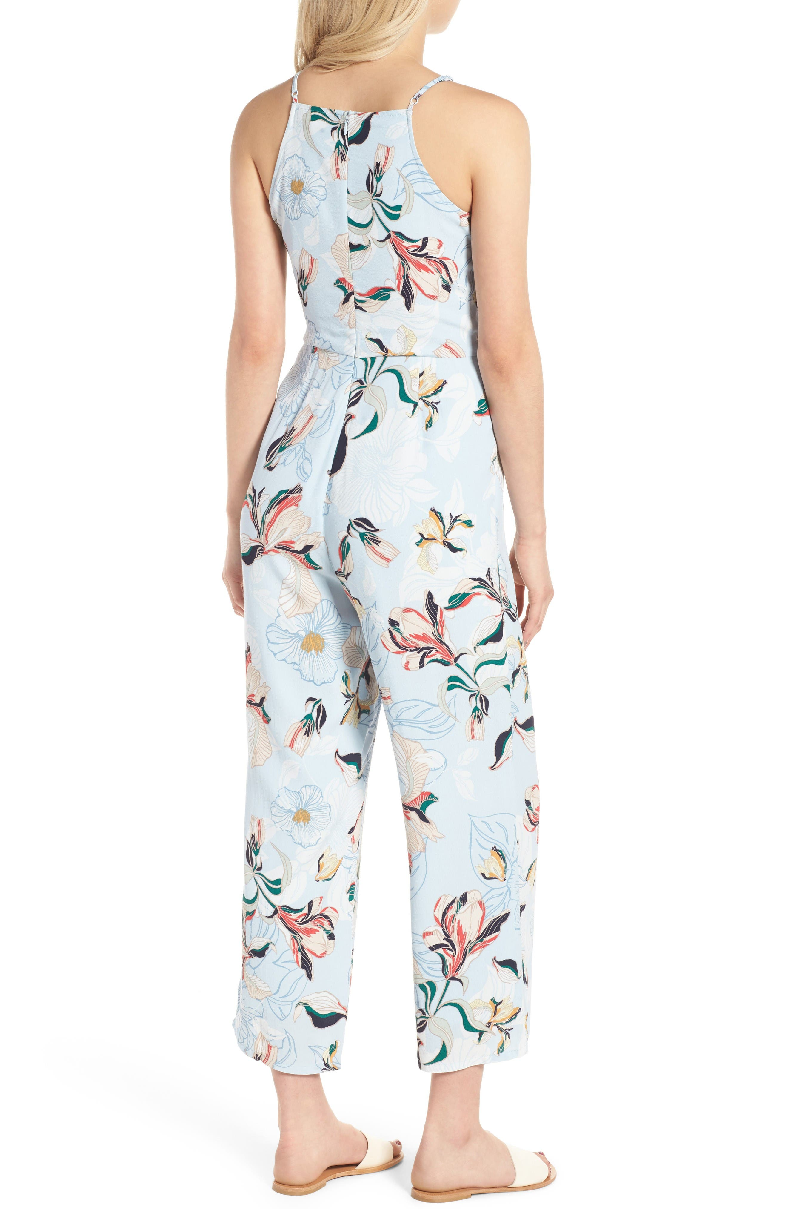 Alternate Image 2  - cupcakes and cashmere Darsy Floral Print Jumpsuit