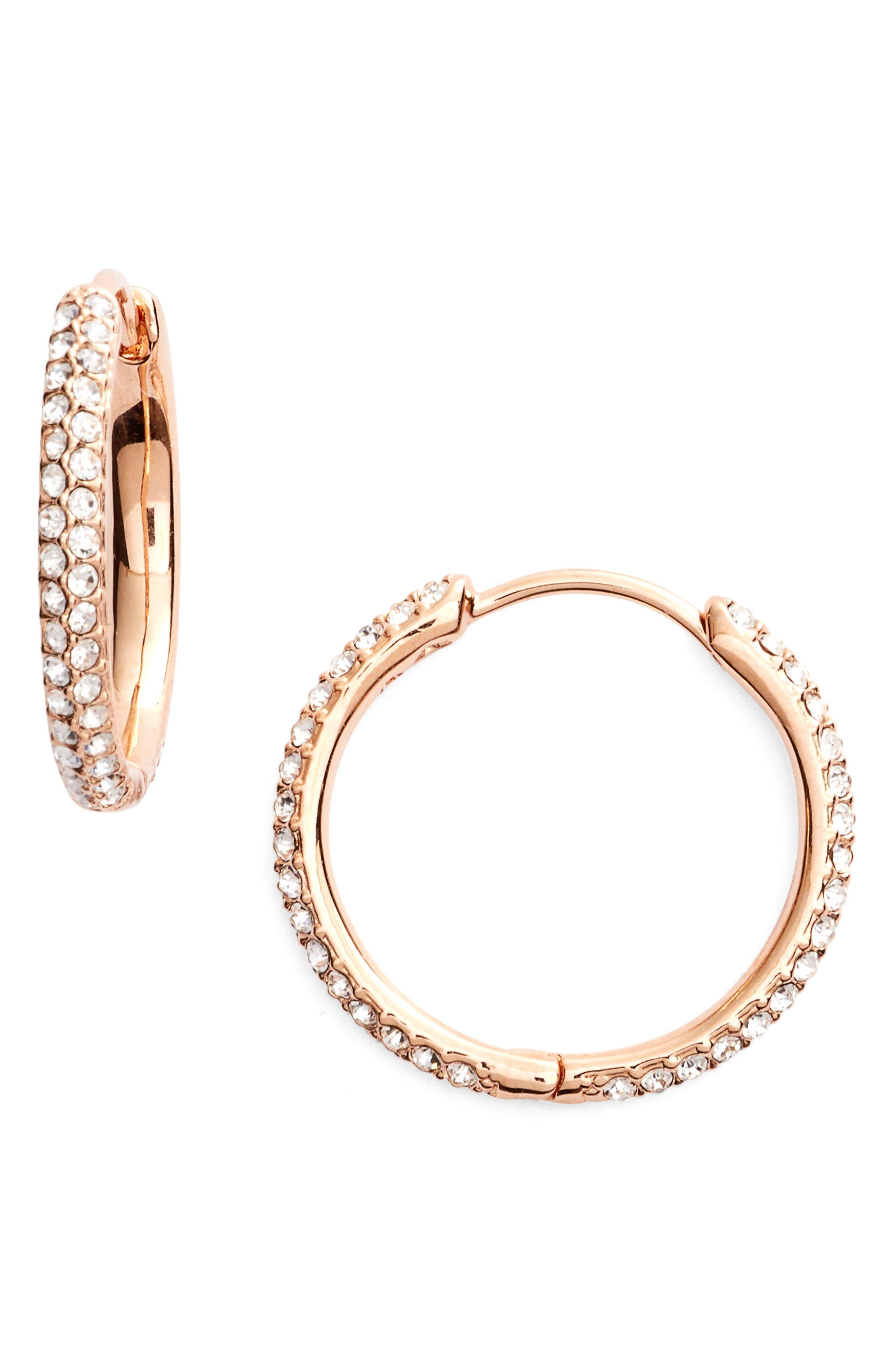 Nadri Small Pavé Hoop Earrings (Nordstrom Exclusive)