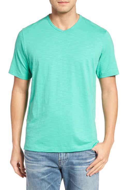 Tommy Bahama Portside Player V-Neck T-Shirt (Big   Tall)
