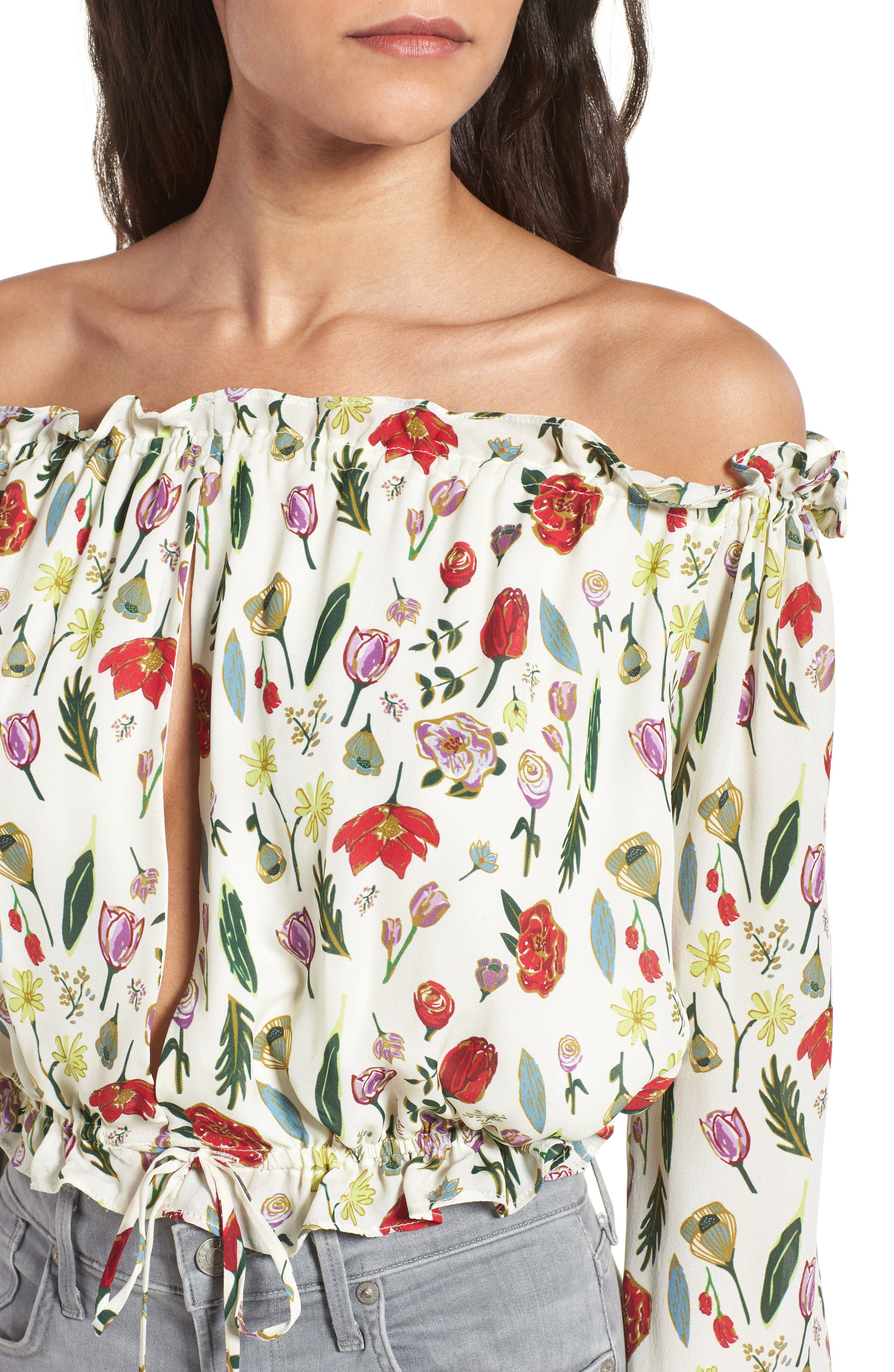 Alternate Image 4  - Stone Cold Fox Savona Off the Shoulder Silk Blouse