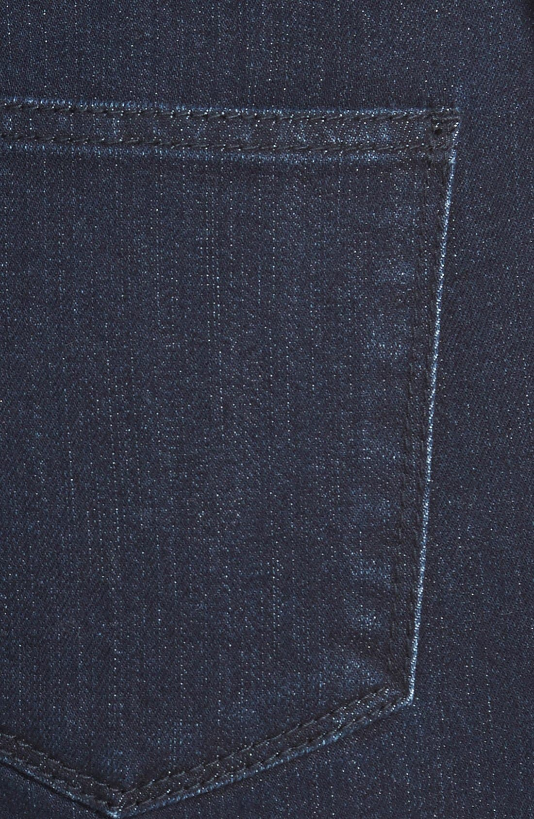 Alternate Image 3  - Fire High Rise Denim Shorts (Dark Wash) (Juniors)