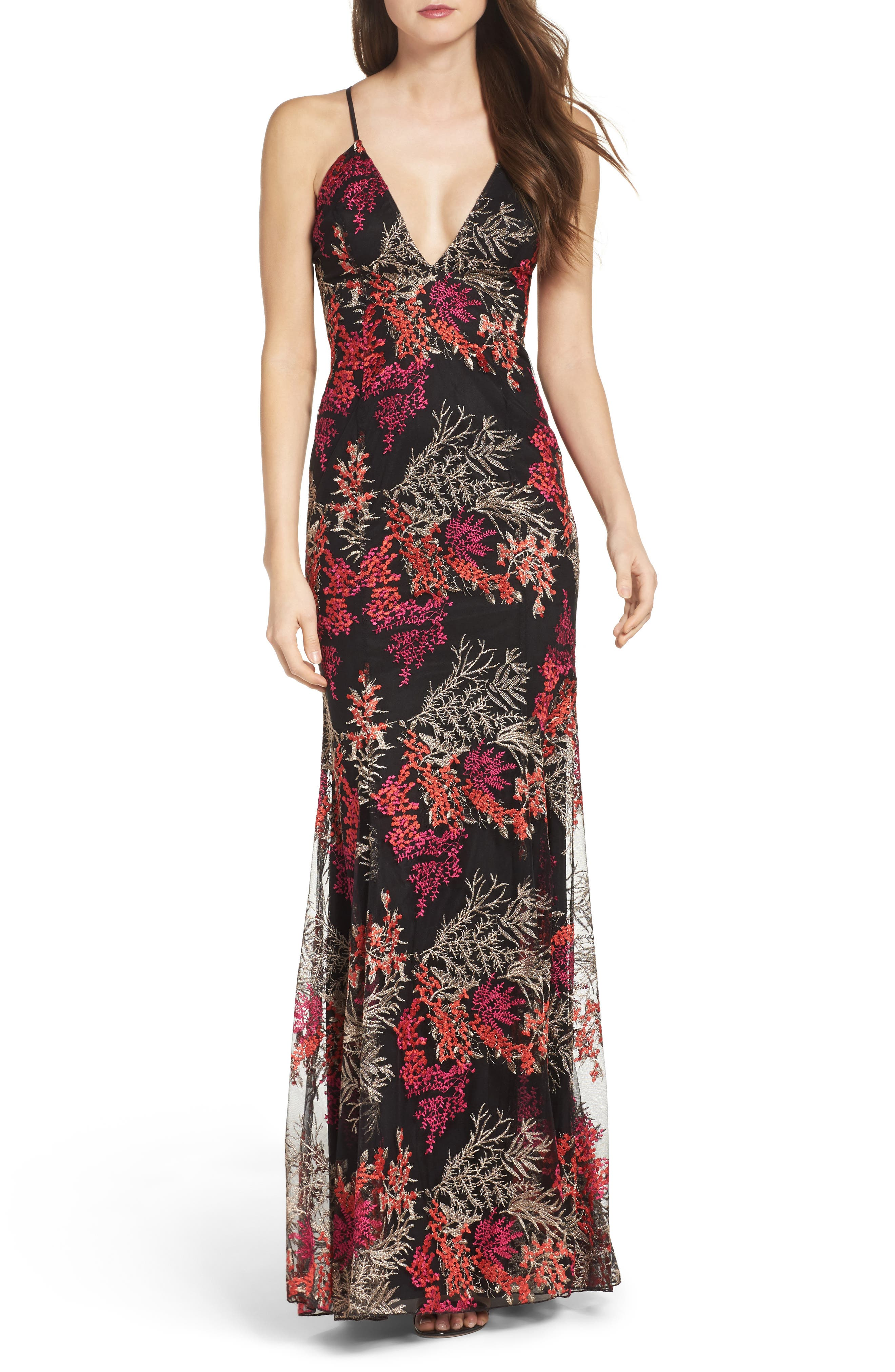 Jay Godfrey Henderson Embroidered Gown