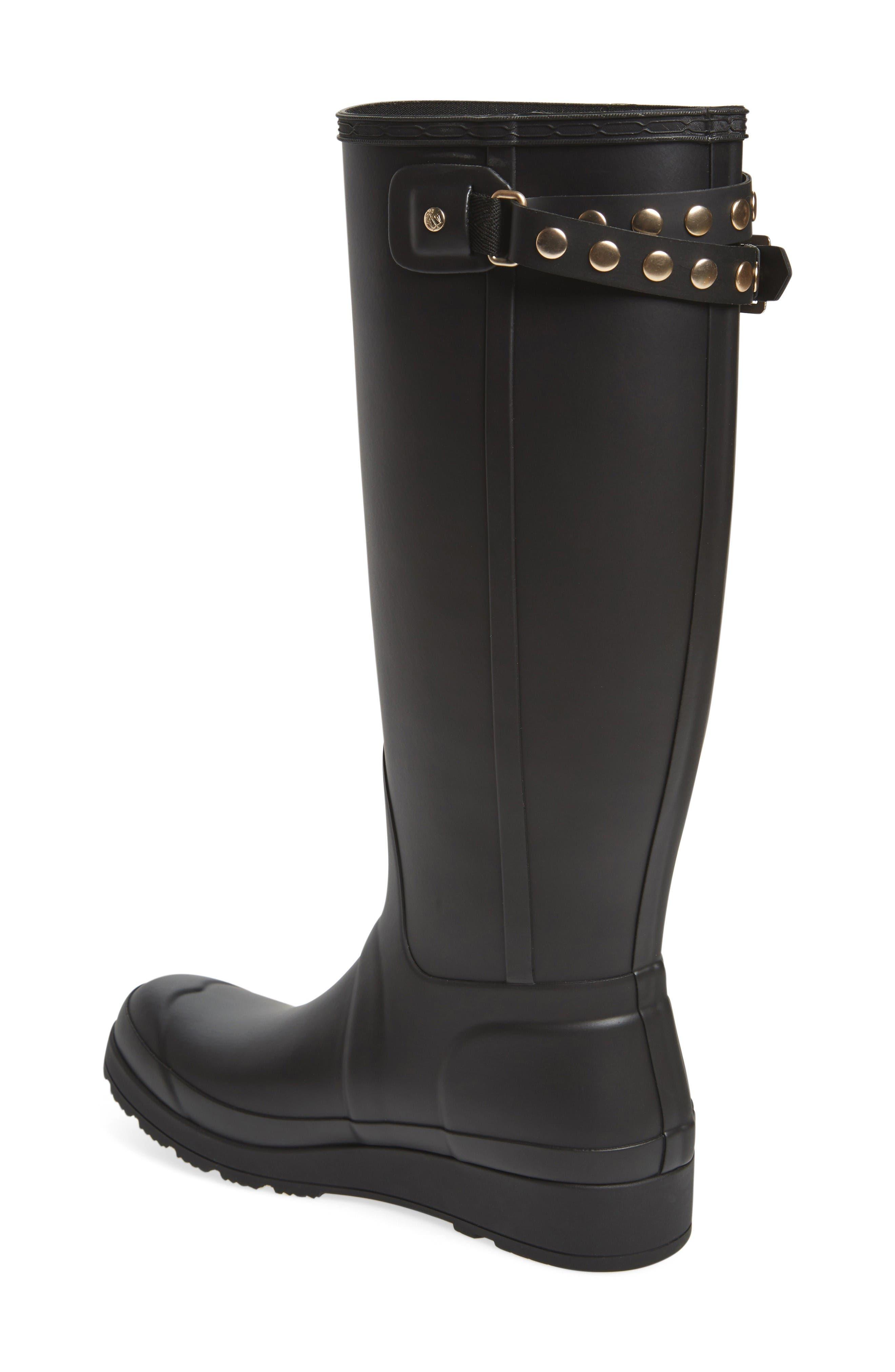 Alternate Image 2  - Hunter Original Tall Studded Wedge Rain Boot (Women)