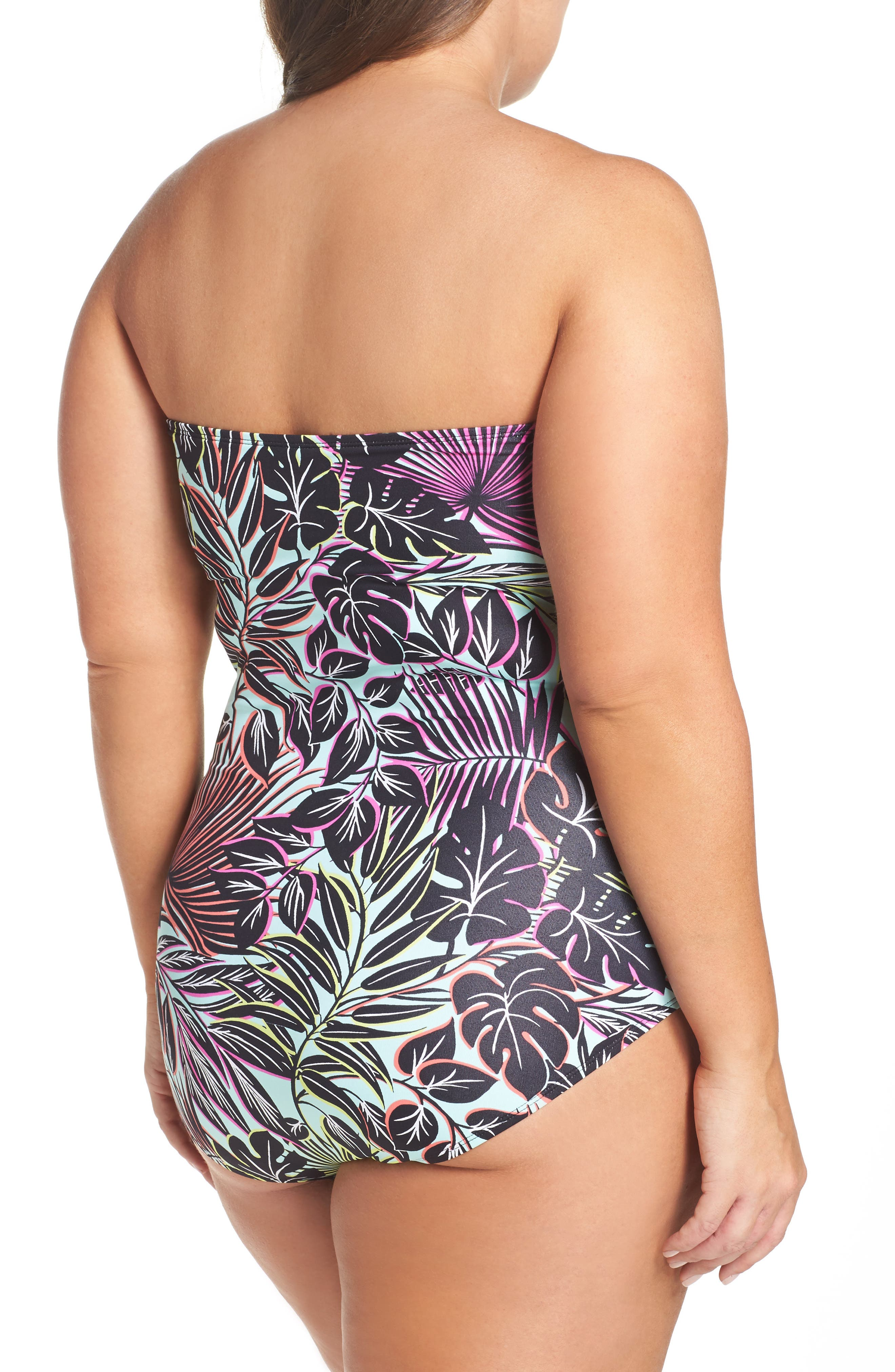 Alternate Image 2  - Tommy Bahama Lively Leaves One-Piece Swimsuit (Plus Size)