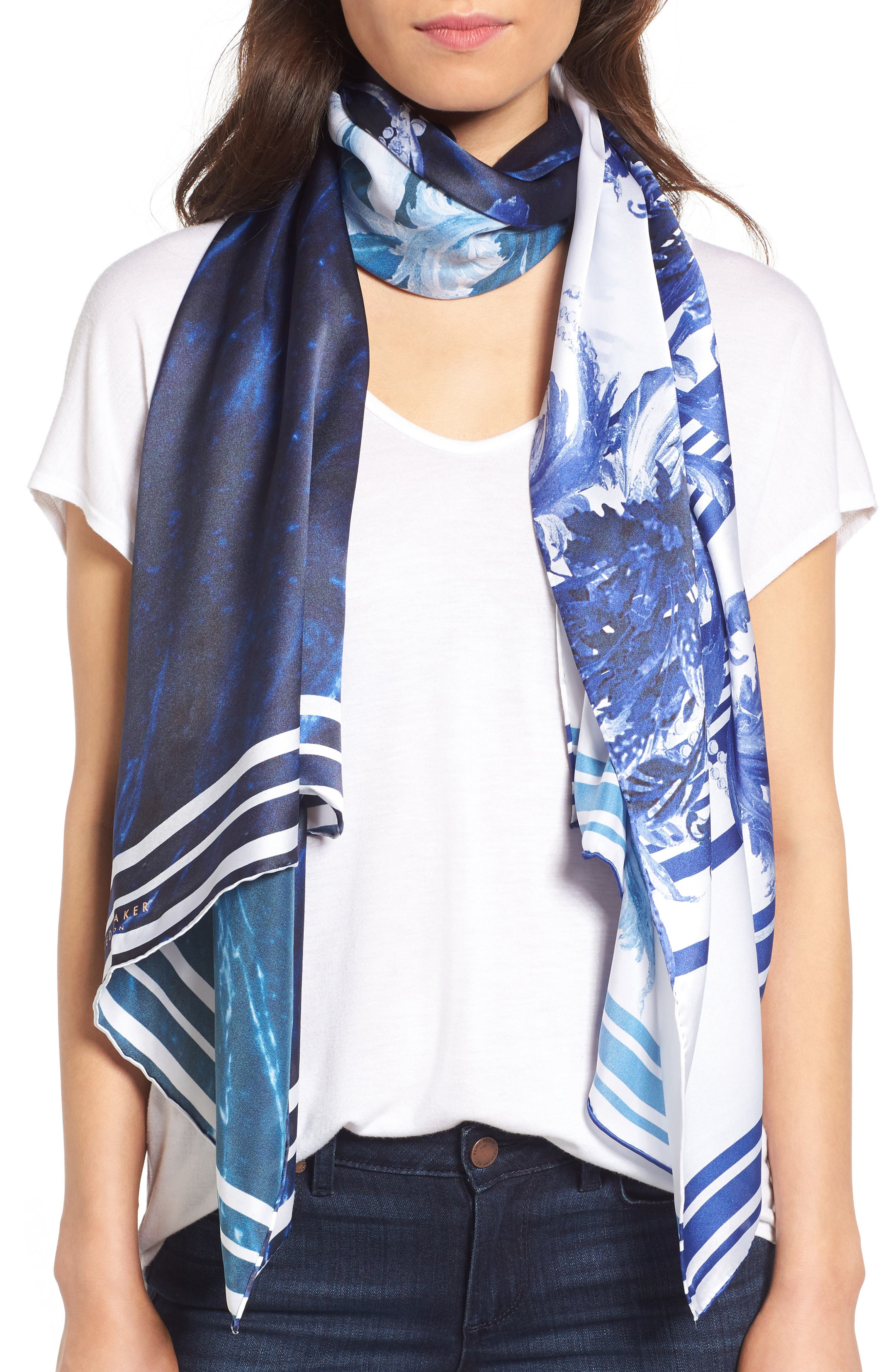 Ted Baker London Persian Blue Silk Scarf
