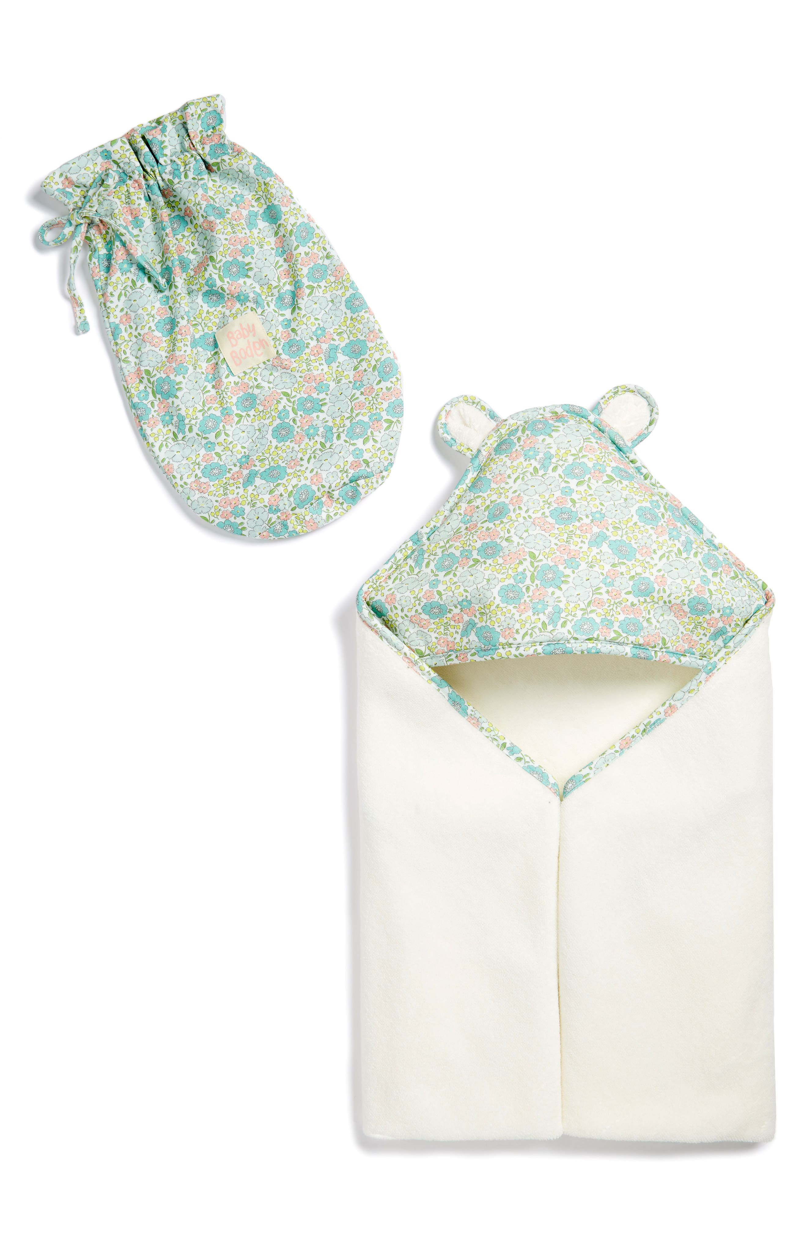 MINI BODEN Hooded Towel & Drawstring Bag Set