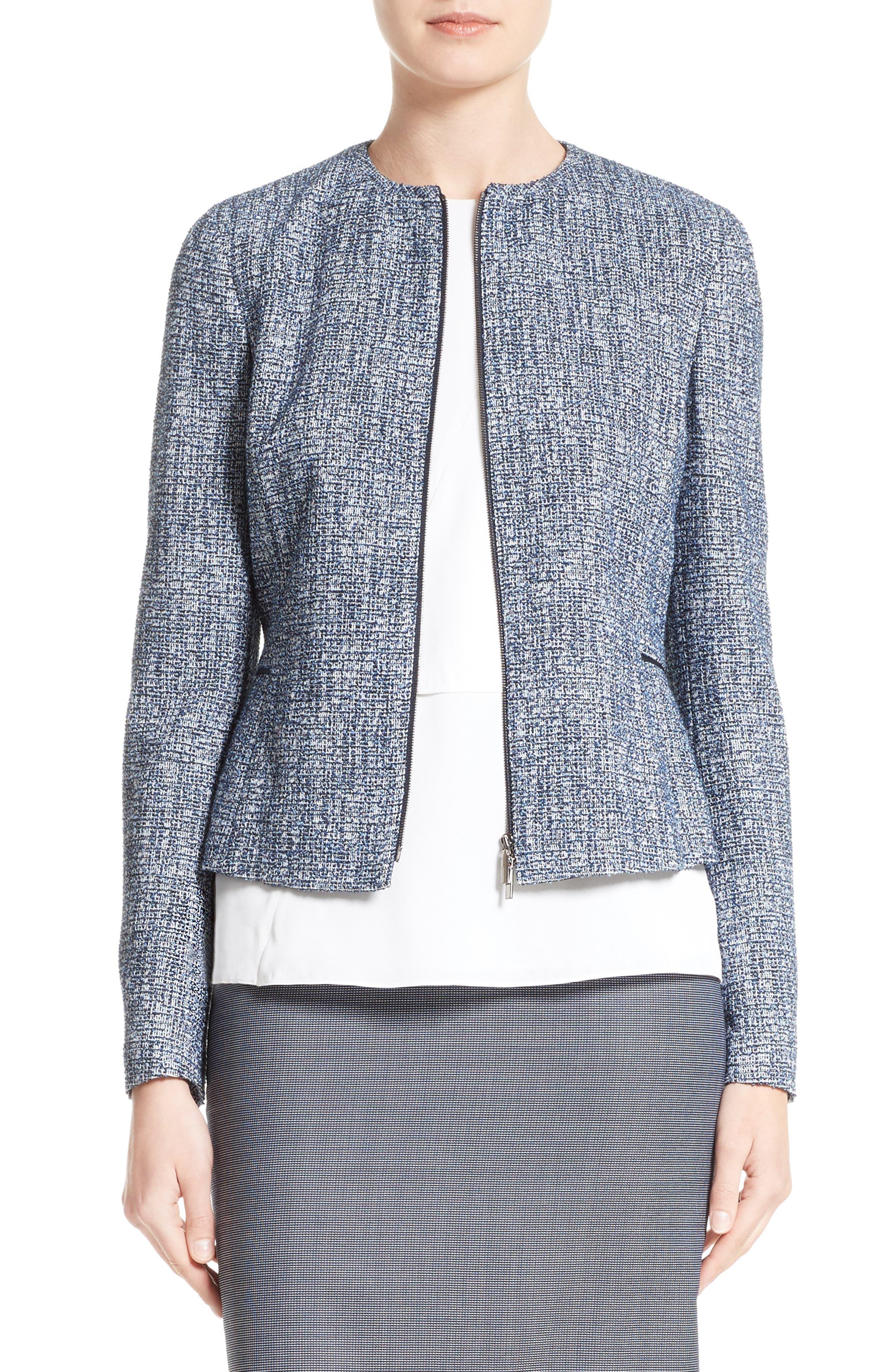 BOSS Karonita Collarless Tweed Jacket (Regular & Petite)