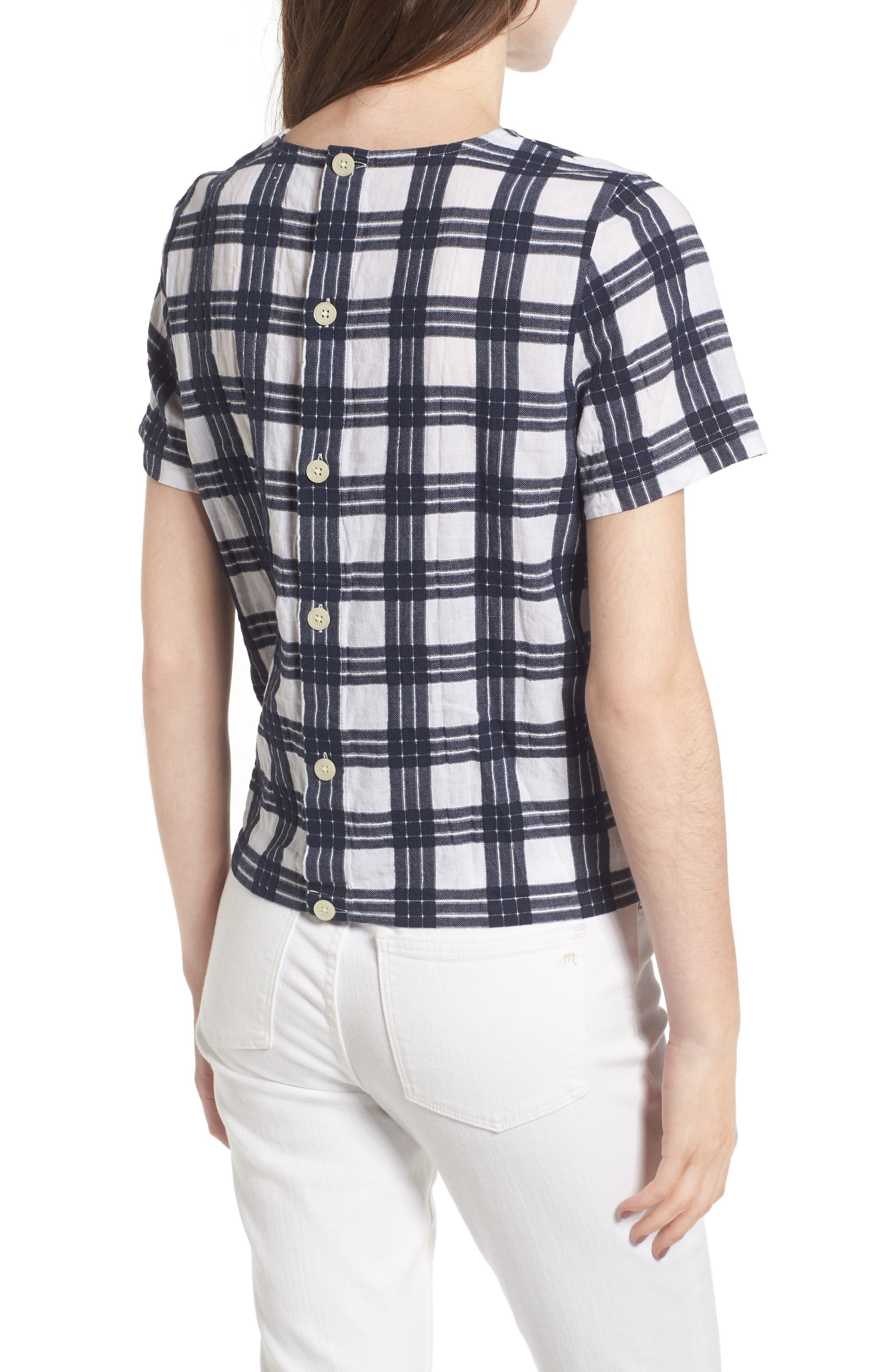 Alternate Image 2  - Madewell Plaid Tie Front Blouse