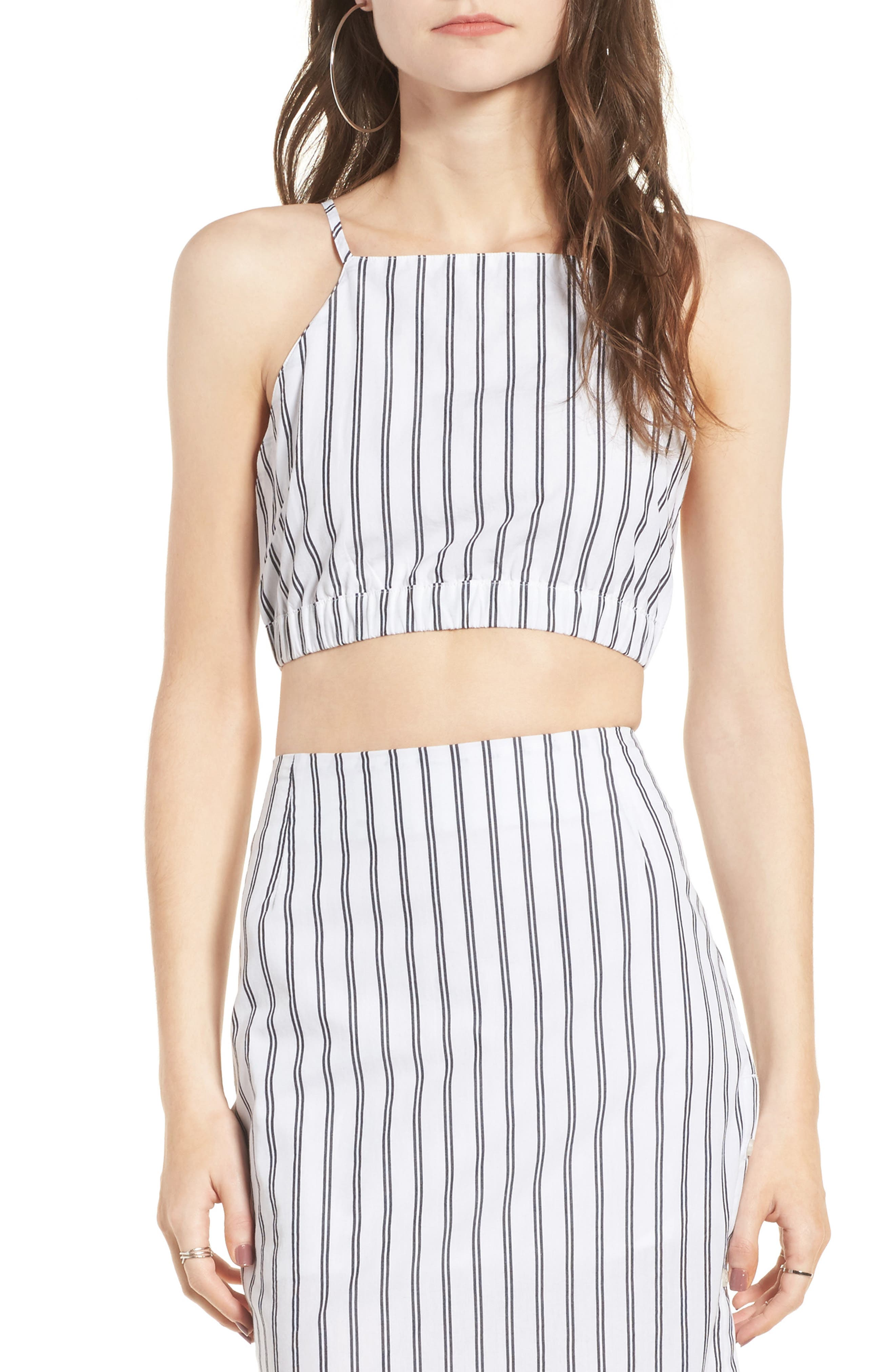 Obey Chambers Stripe Crop Top