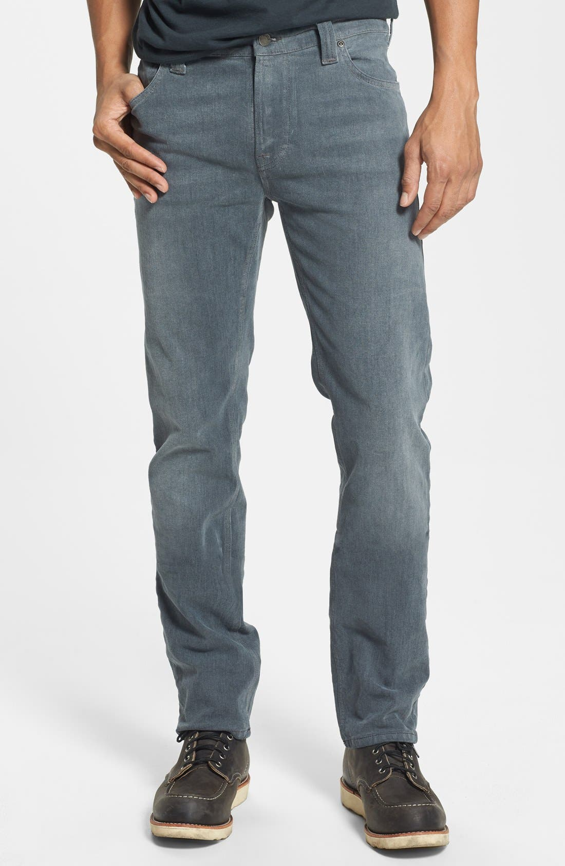 Alternate Image 1 Selected - Nudie Jeans 'Thin Finn' Skinny Fit Jeans (Organic Lighter Shade)
